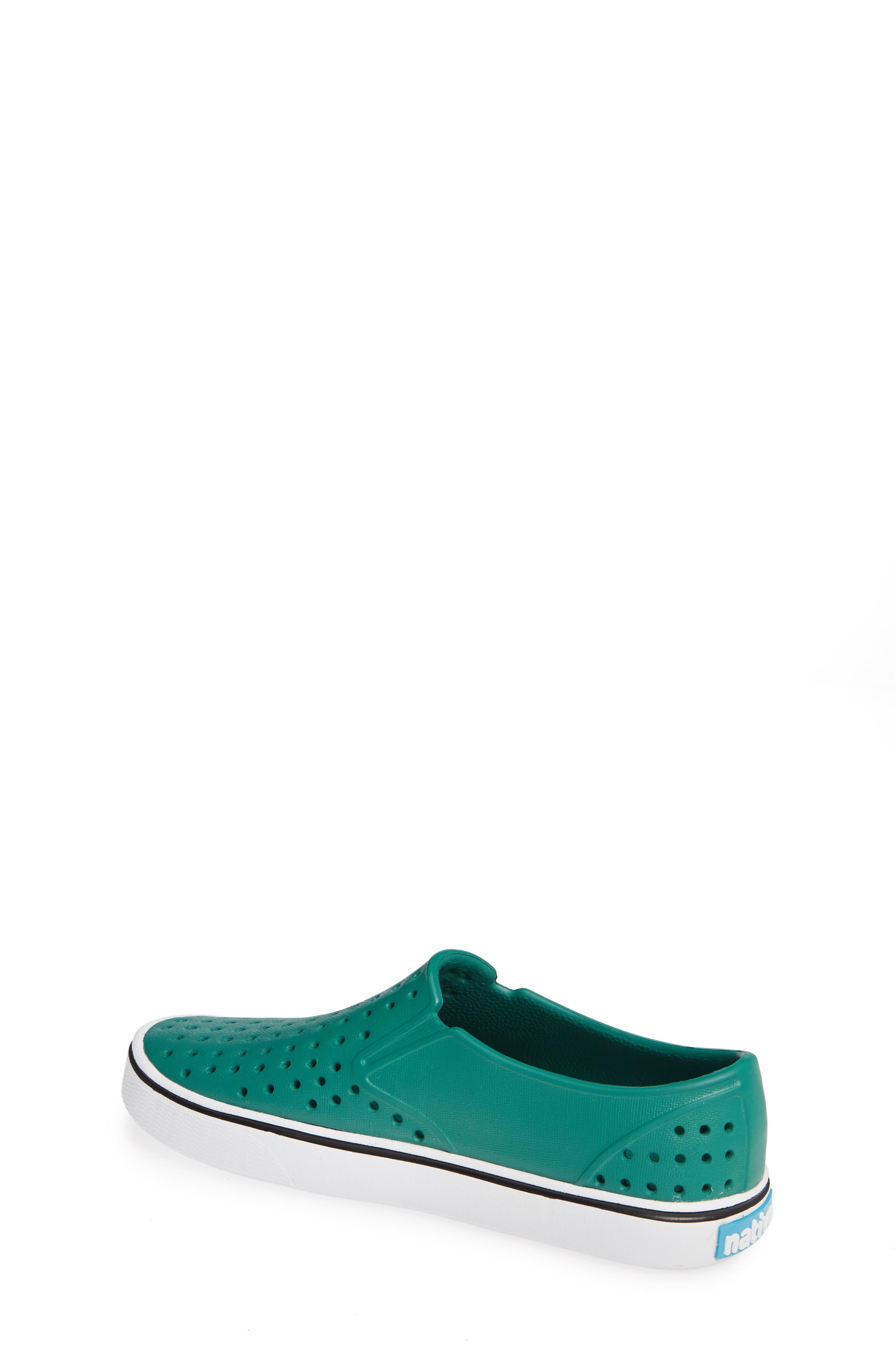 Miles Water Friendly Slip-On Vegan Sneaker,                             Alternate thumbnail 2, color,                             EVERGREEN/ SHELL WHITE