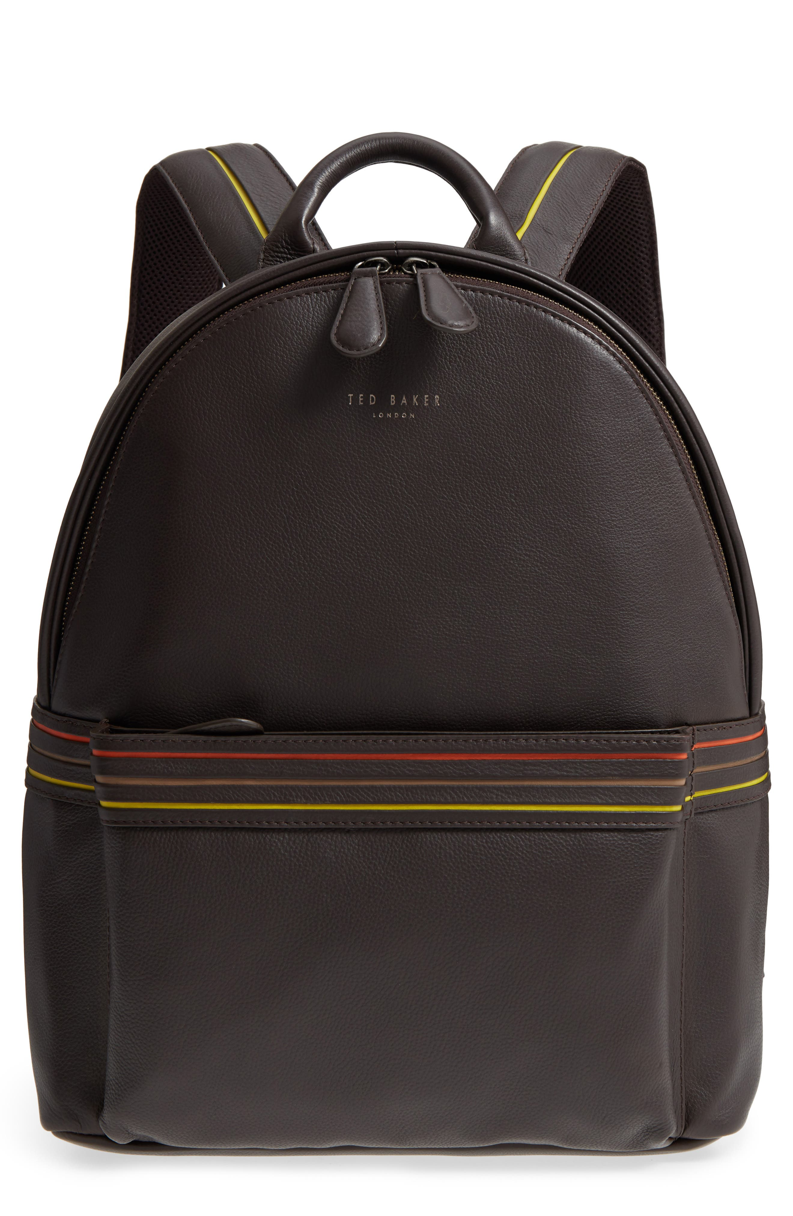 Huntman Stripe Backpack,                         Main,                         color, CHOCOLATE