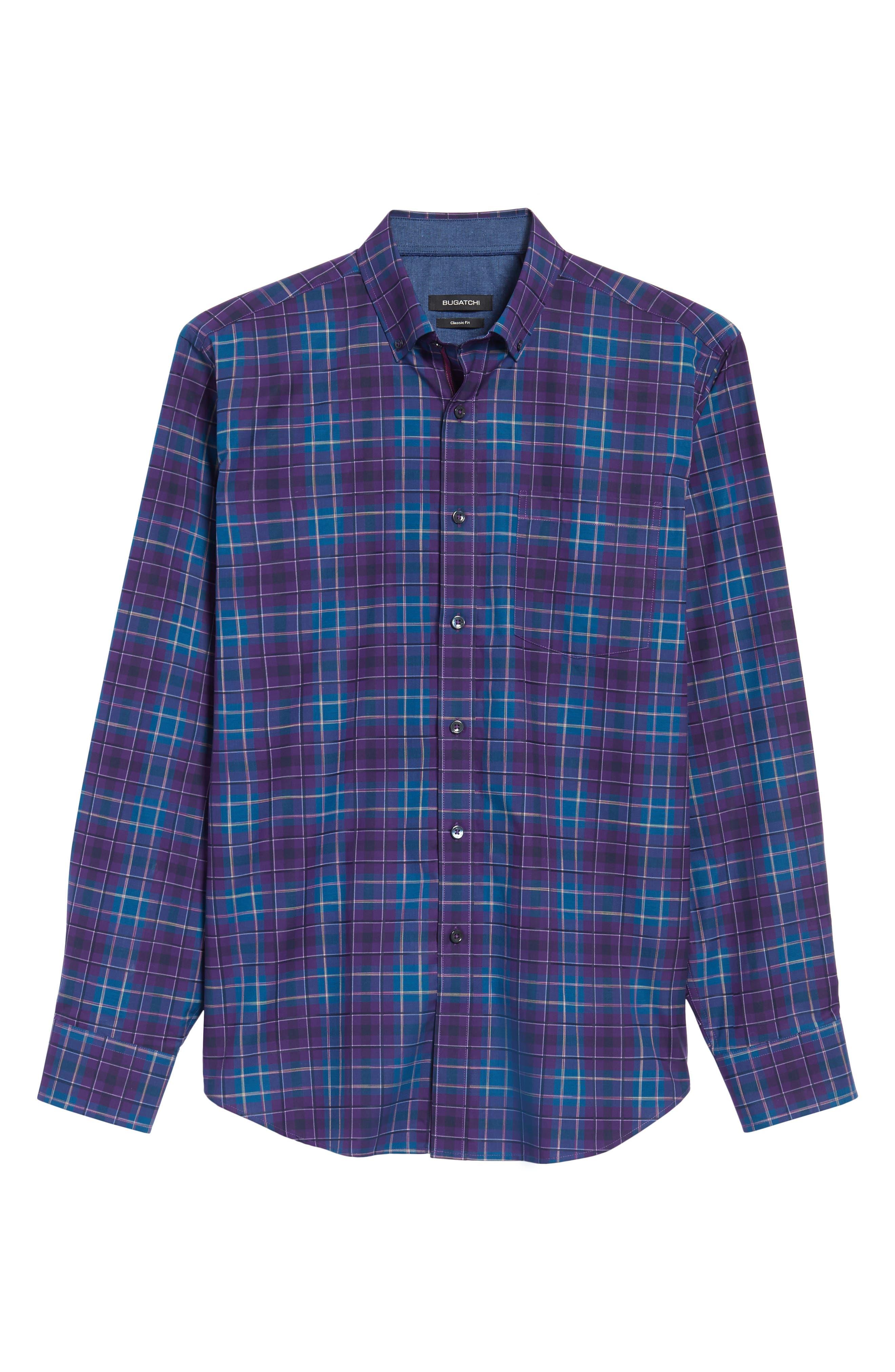 Classic Fit Plaid Sport Shirt,                             Alternate thumbnail 6, color,                             513