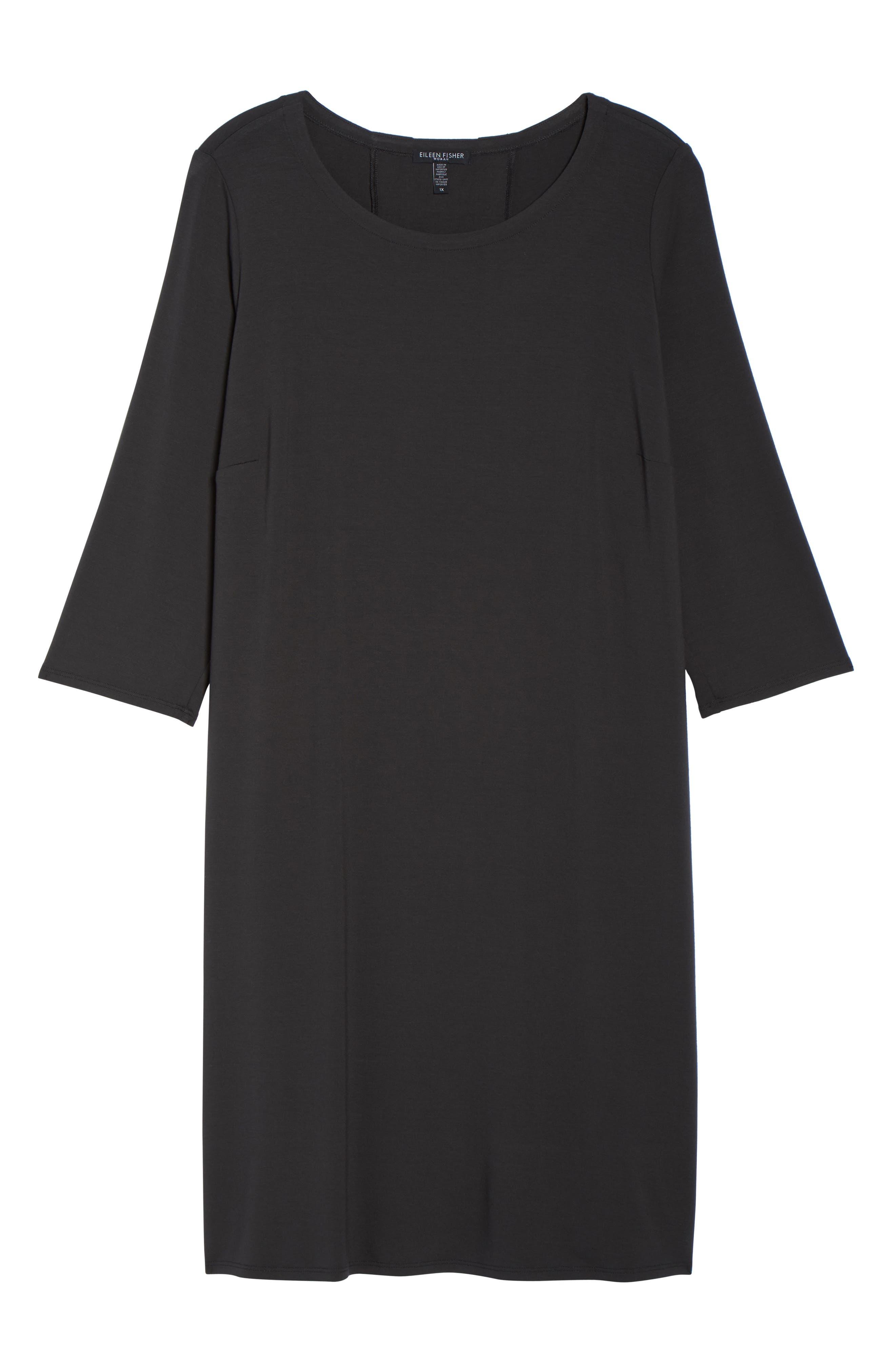Jewel Neck Tie Back Dress,                             Alternate thumbnail 27, color,