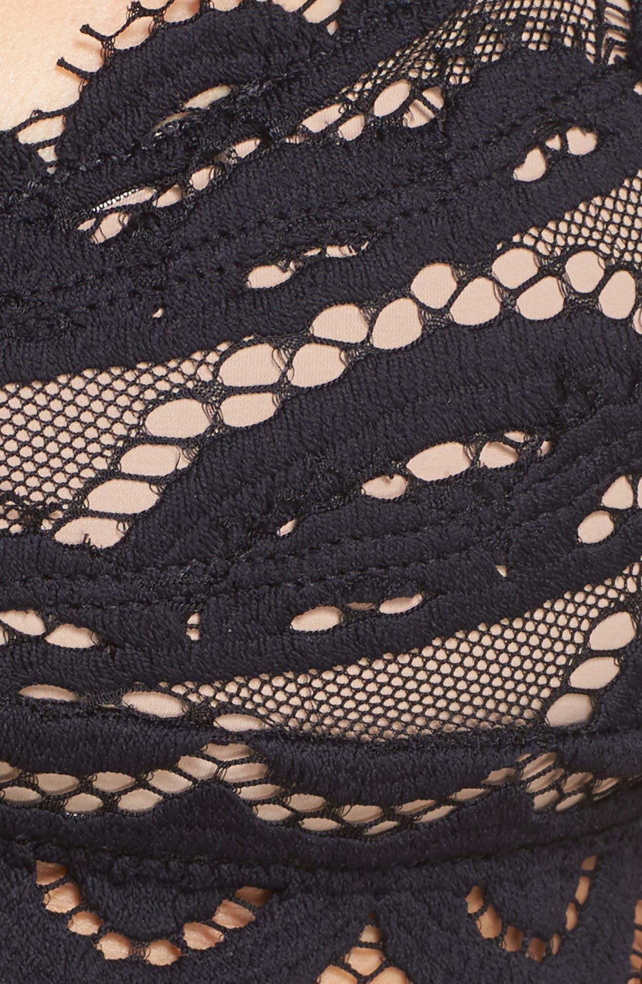 Lace Bikini Top,                             Alternate thumbnail 6, color,                             001