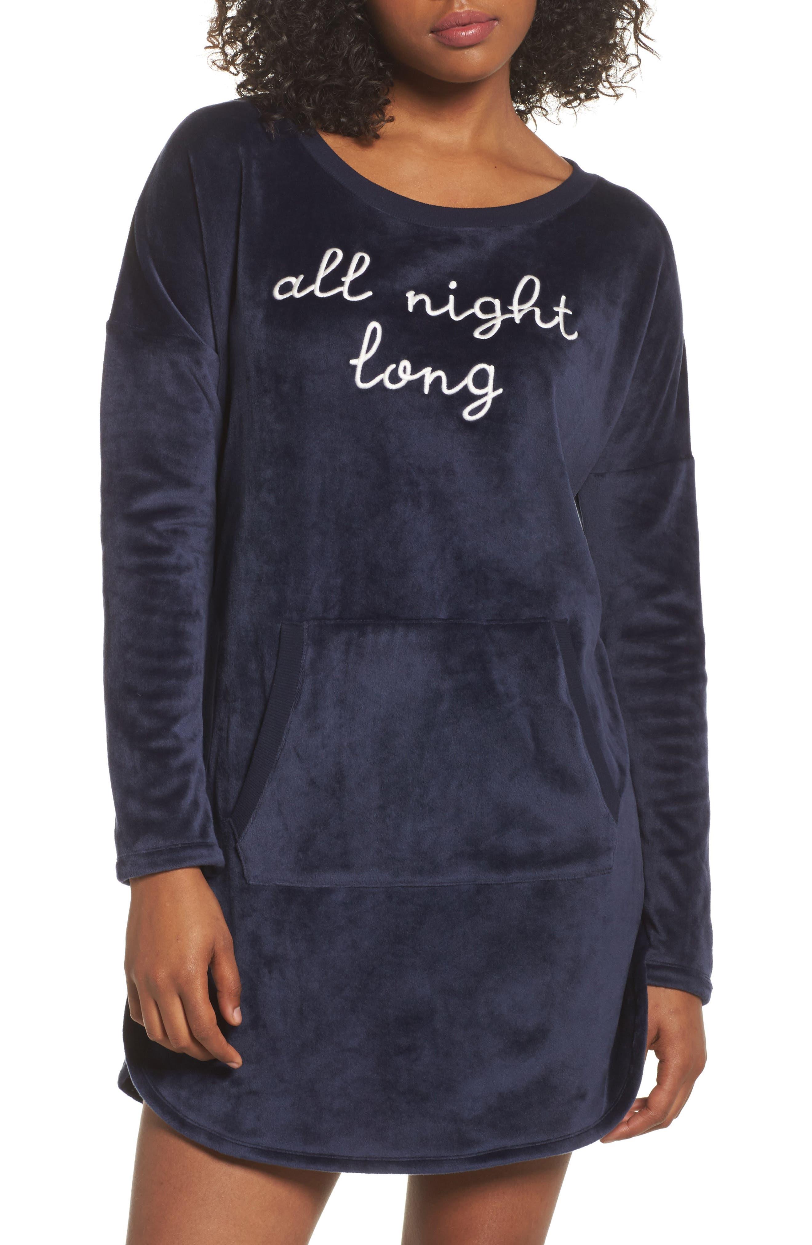 Luxury Plush Sleep Shirt,                             Main thumbnail 2, color,