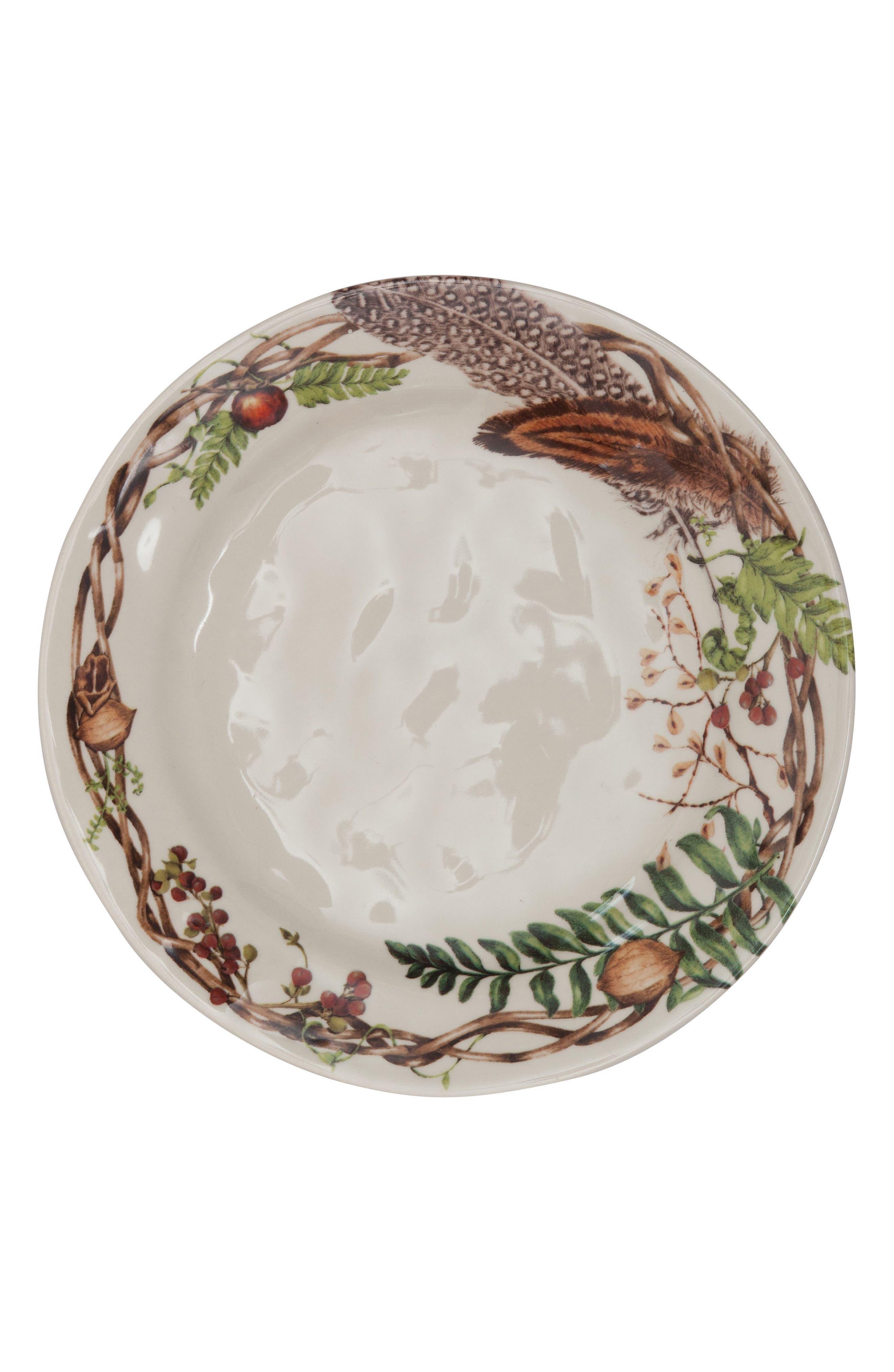 Forest Walk Dinner Plate,                             Alternate thumbnail 2, color,                             CAF AU LAIT