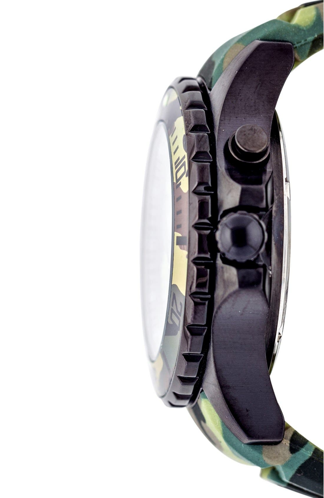 Camouflage Silicone Strap Watch, 40mm,                             Alternate thumbnail 3, color,                             301