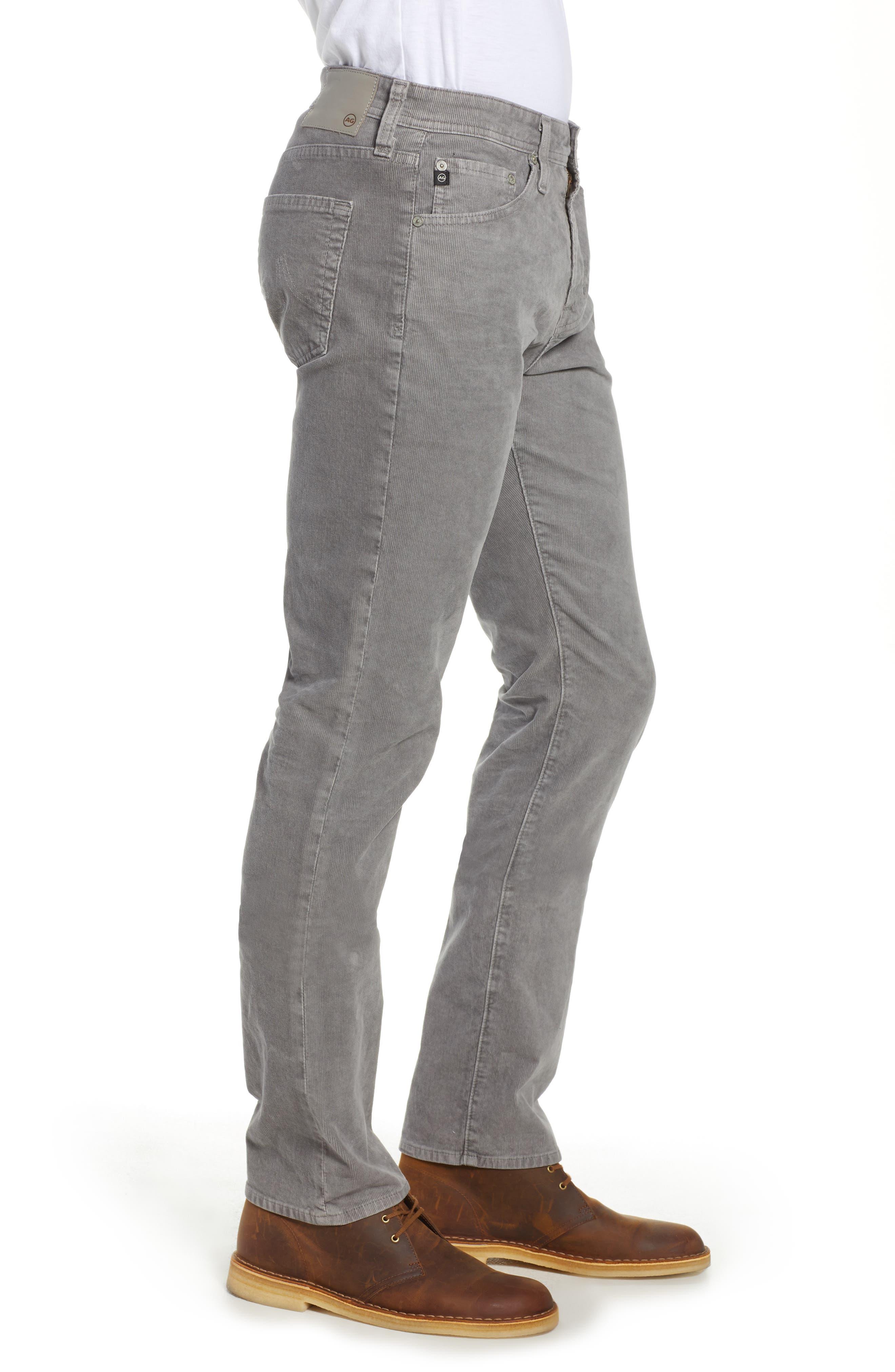 Everett Straight Leg Corduroy Pants,                             Alternate thumbnail 3, color,                             SULFUR AUTUMN FOG