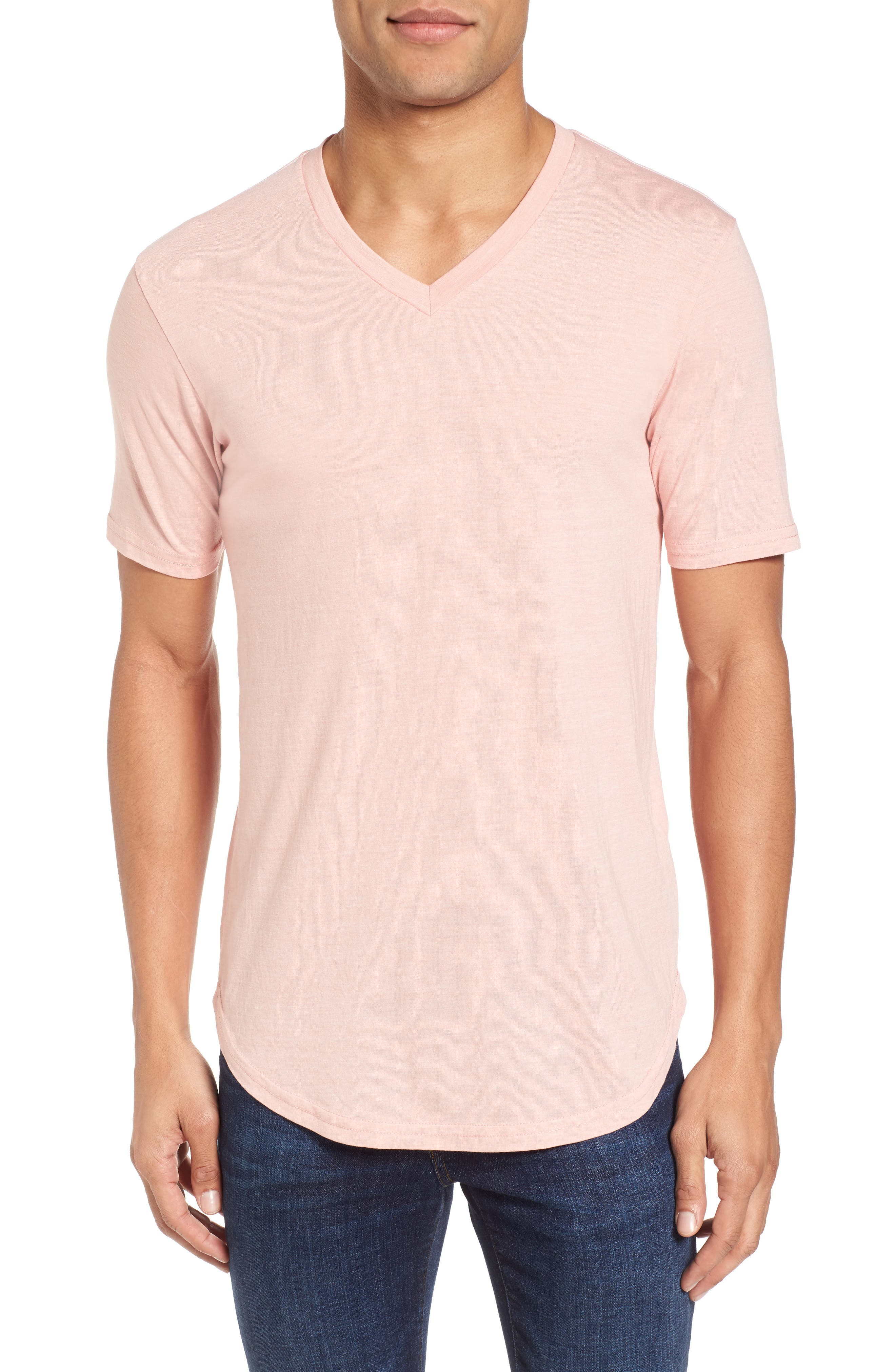 Scallop Triblend V-Neck T-Shirt,                             Main thumbnail 12, color,
