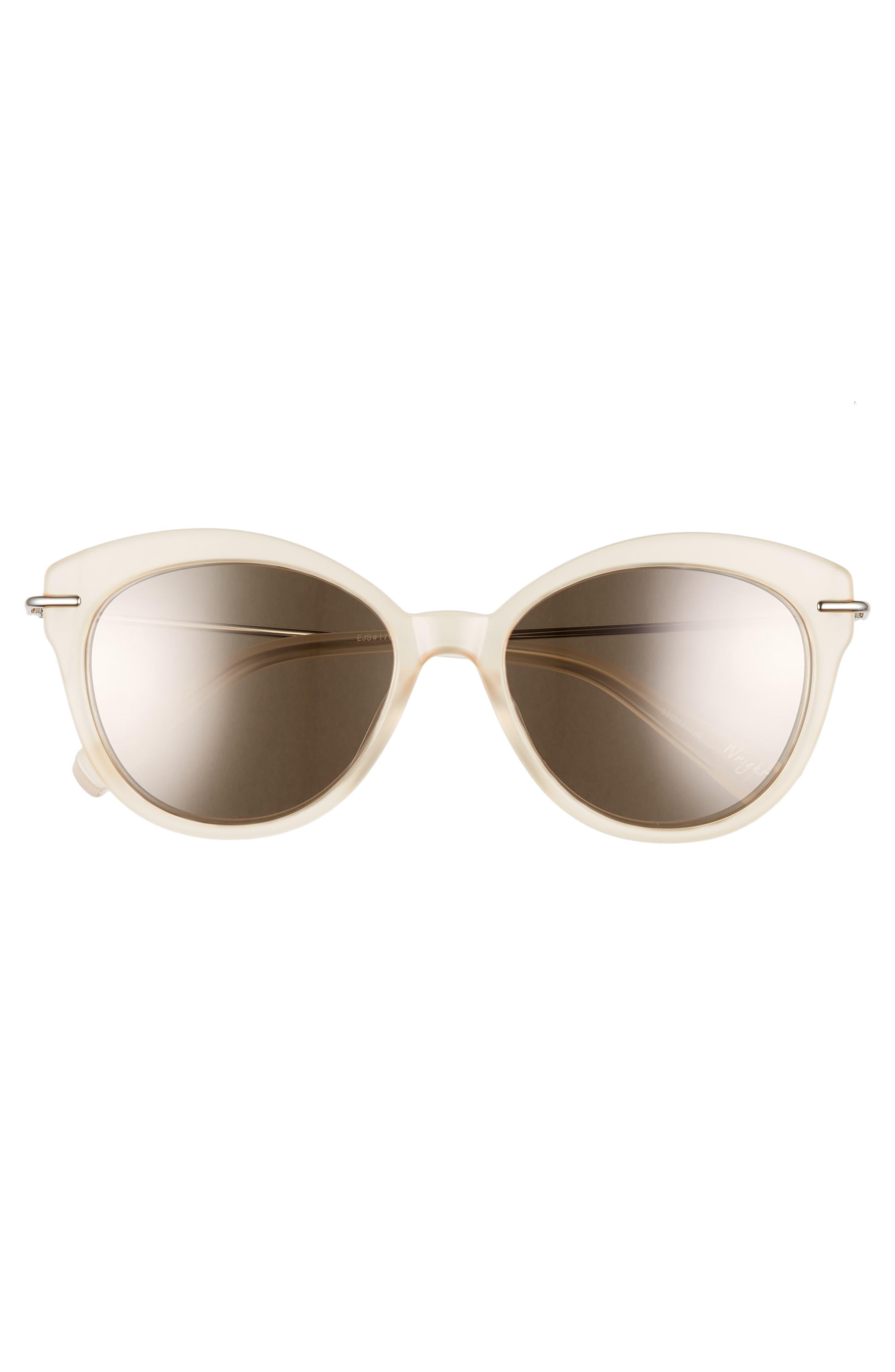 ELIZABETH AND JAMES,                             Wright 53mm Cat Eye Sunglasses,                             Alternate thumbnail 3, color,                             001