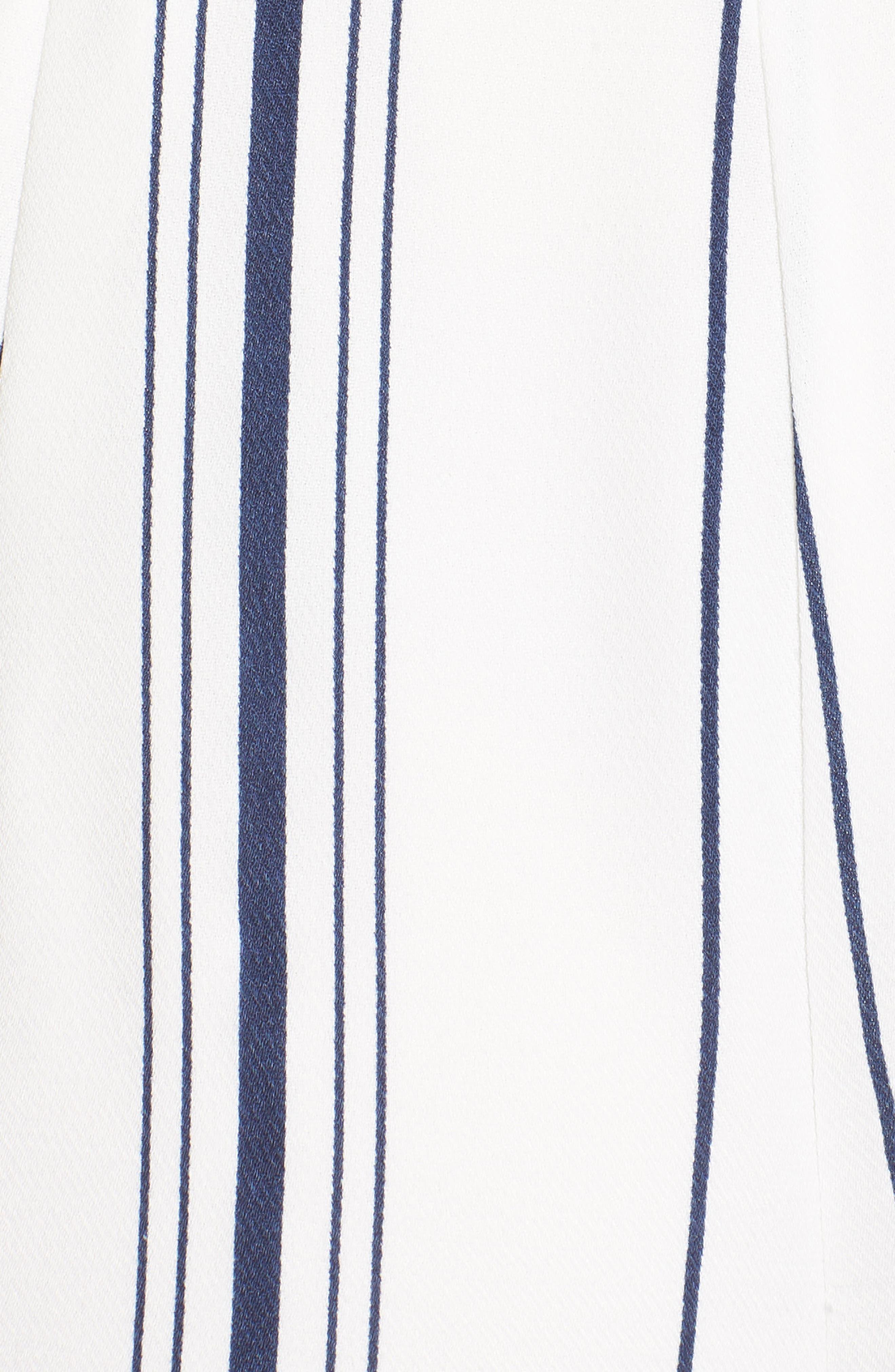 Stripe Crop Jumpsuit,                             Alternate thumbnail 5, color,                             100