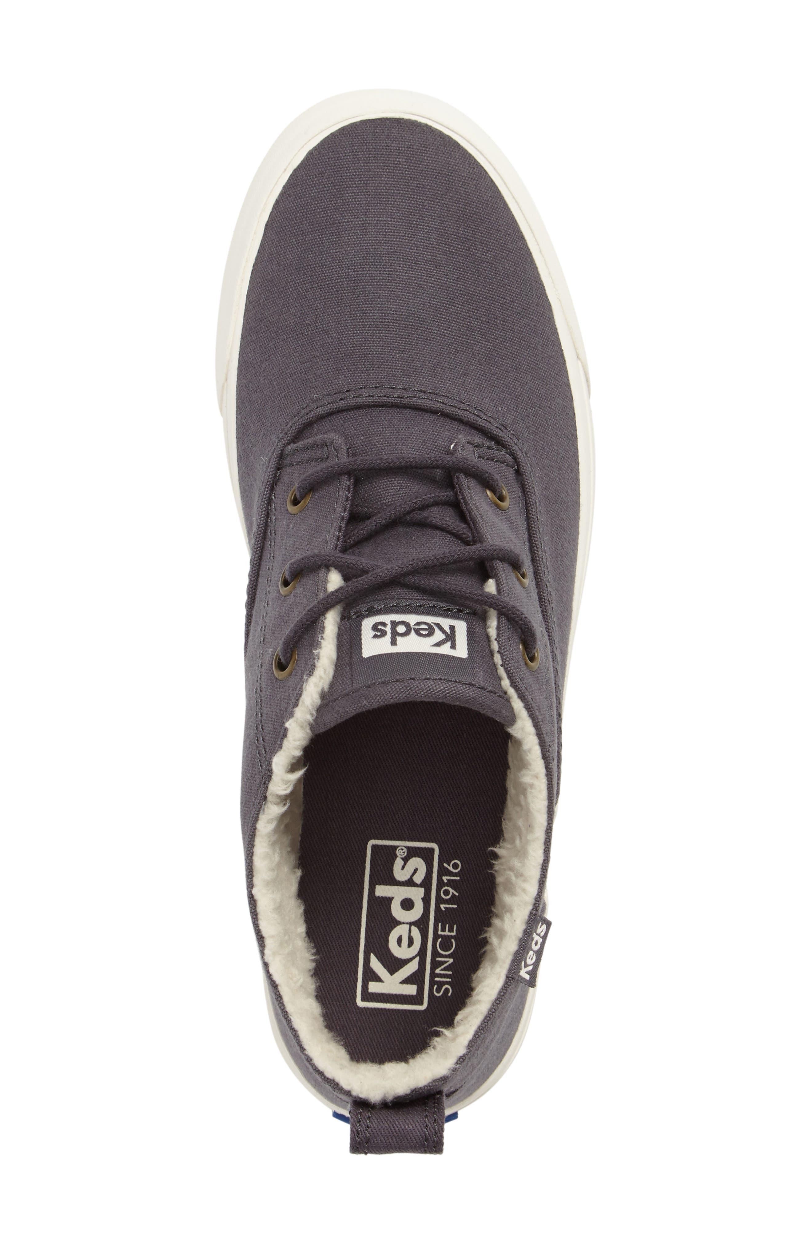 Triumph Faux Shearling Sneaker,                             Alternate thumbnail 3, color,                             021