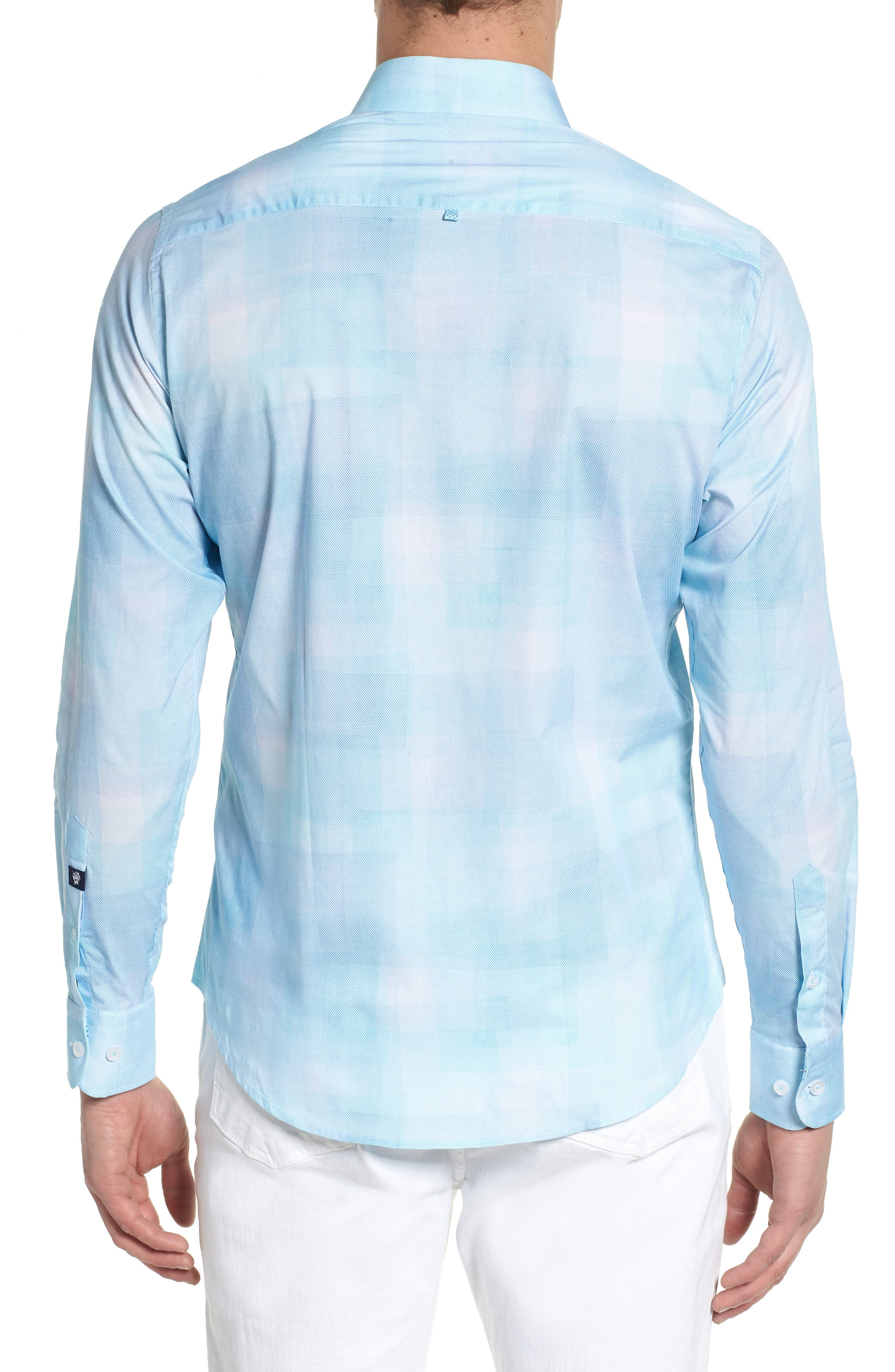 Plaid Sport Shirt,                             Alternate thumbnail 2, color,                             330