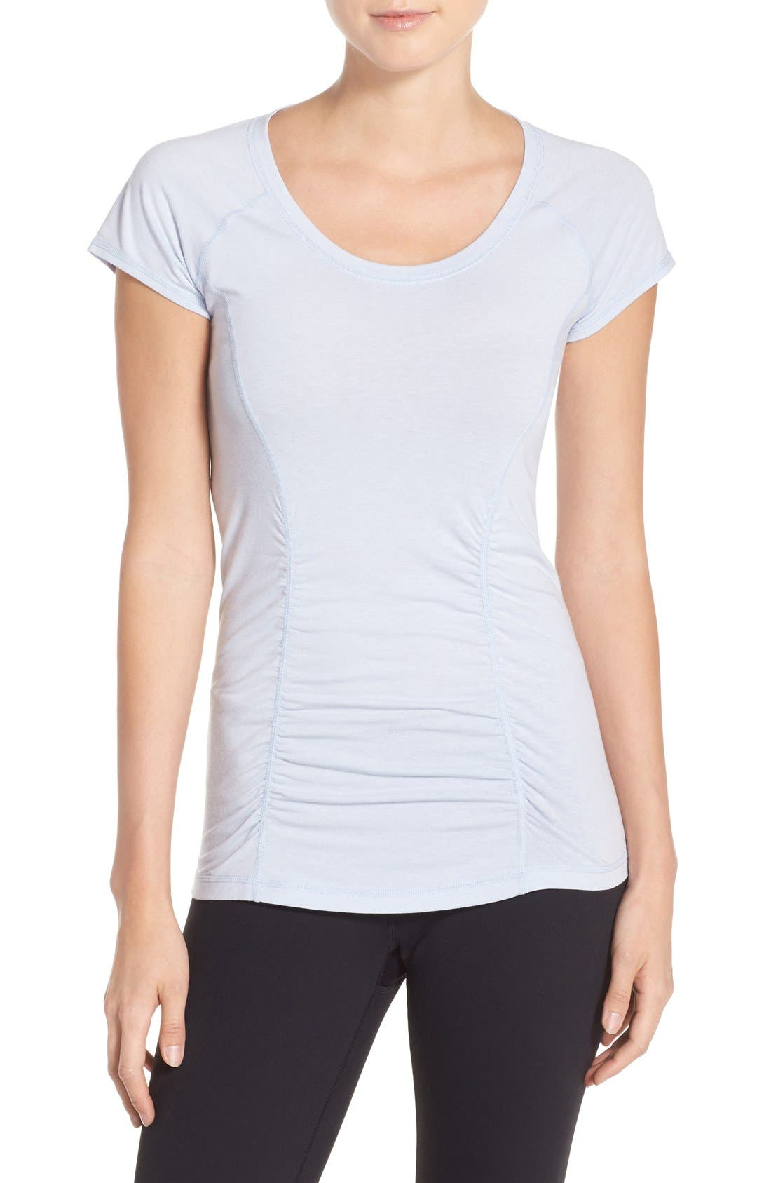 'Z 6' Ruched Tee,                             Main thumbnail 8, color,