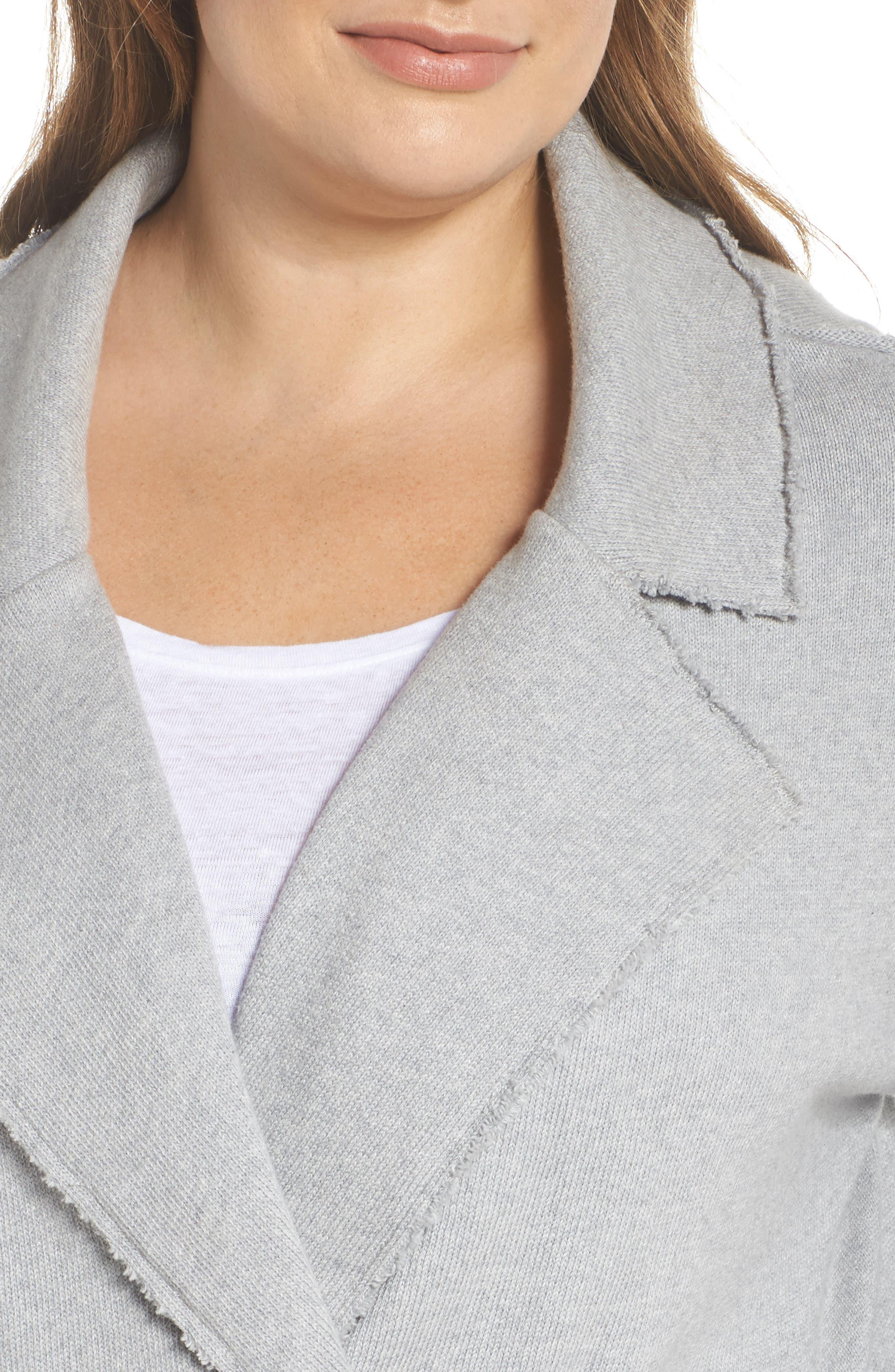 Knit Moto Jacket,                             Alternate thumbnail 4, color,                             030
