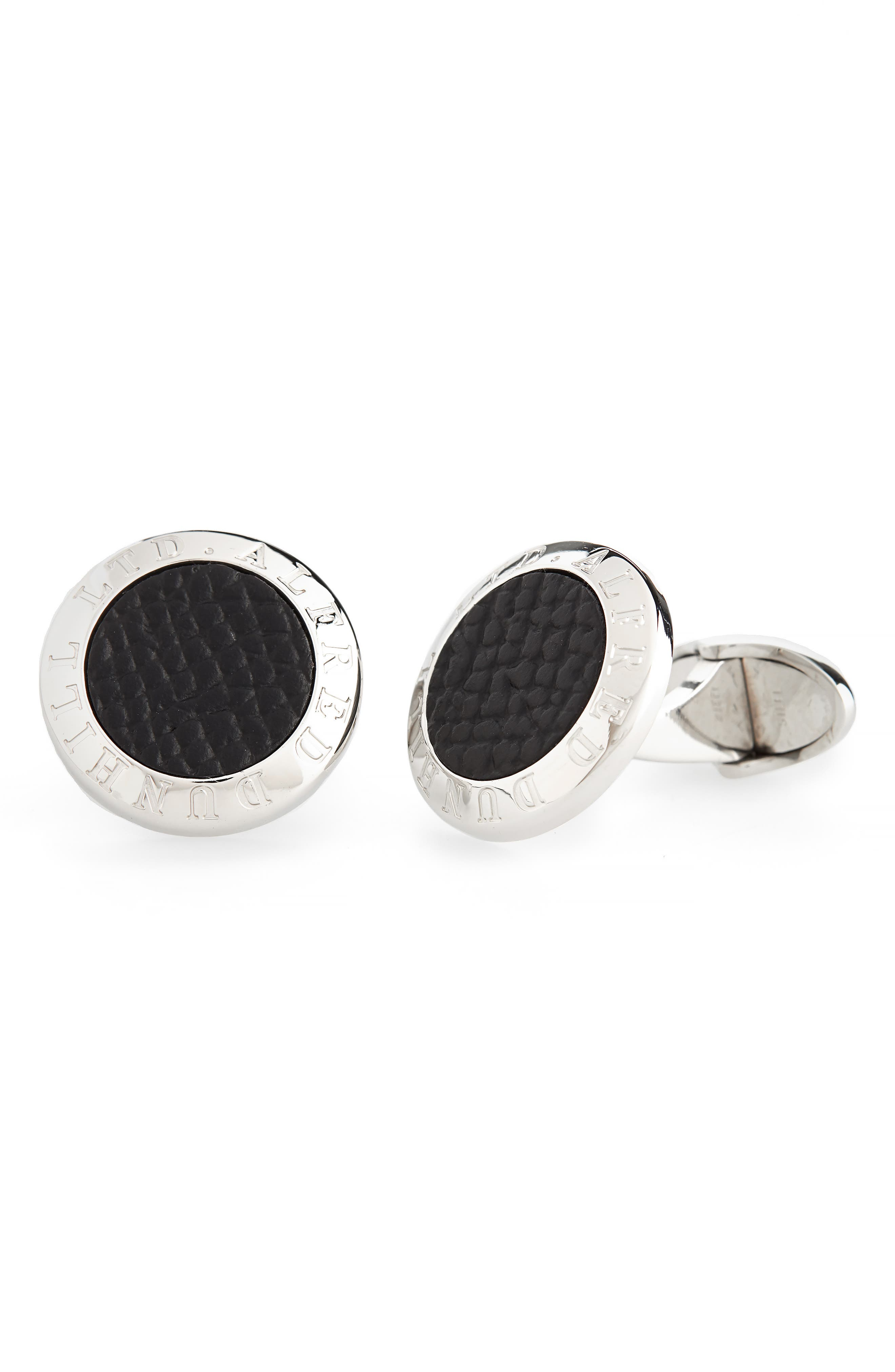 DUNHILL Ad Coin Cuff Links in Silver