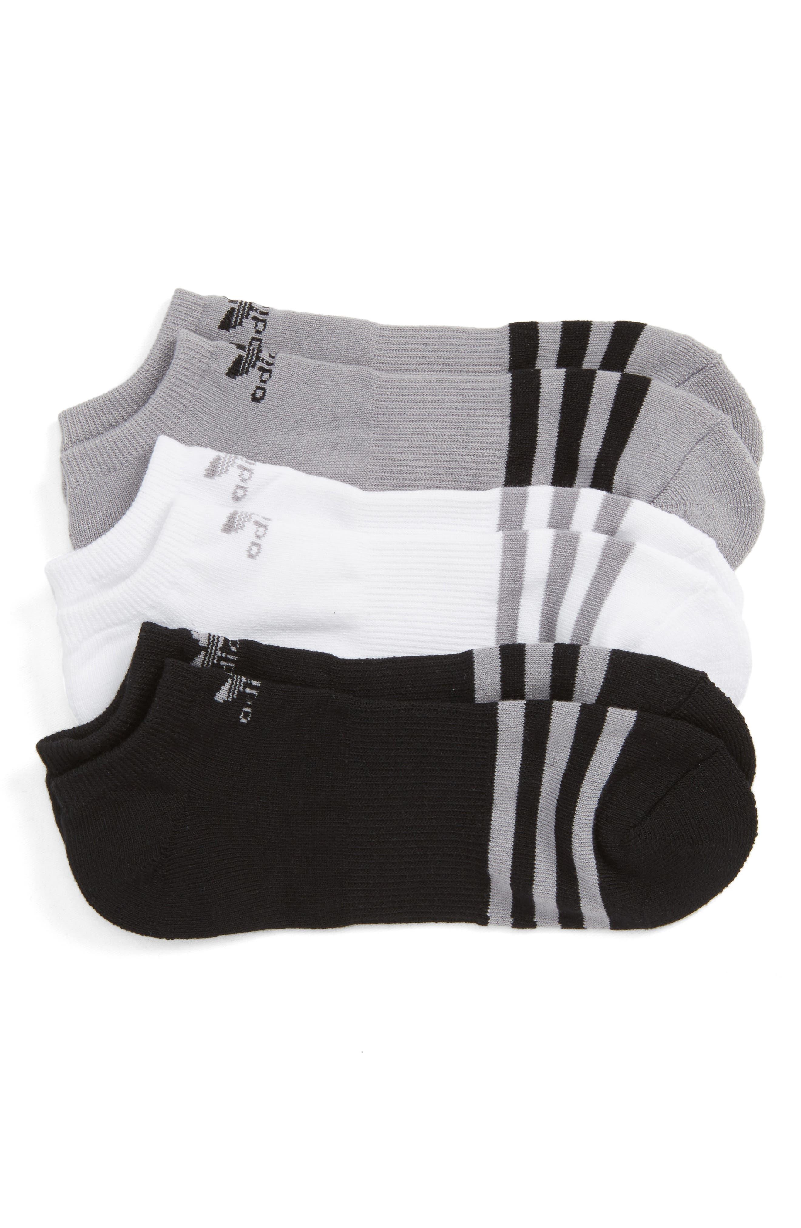 3-Pack No-Show Socks,                             Main thumbnail 1, color,