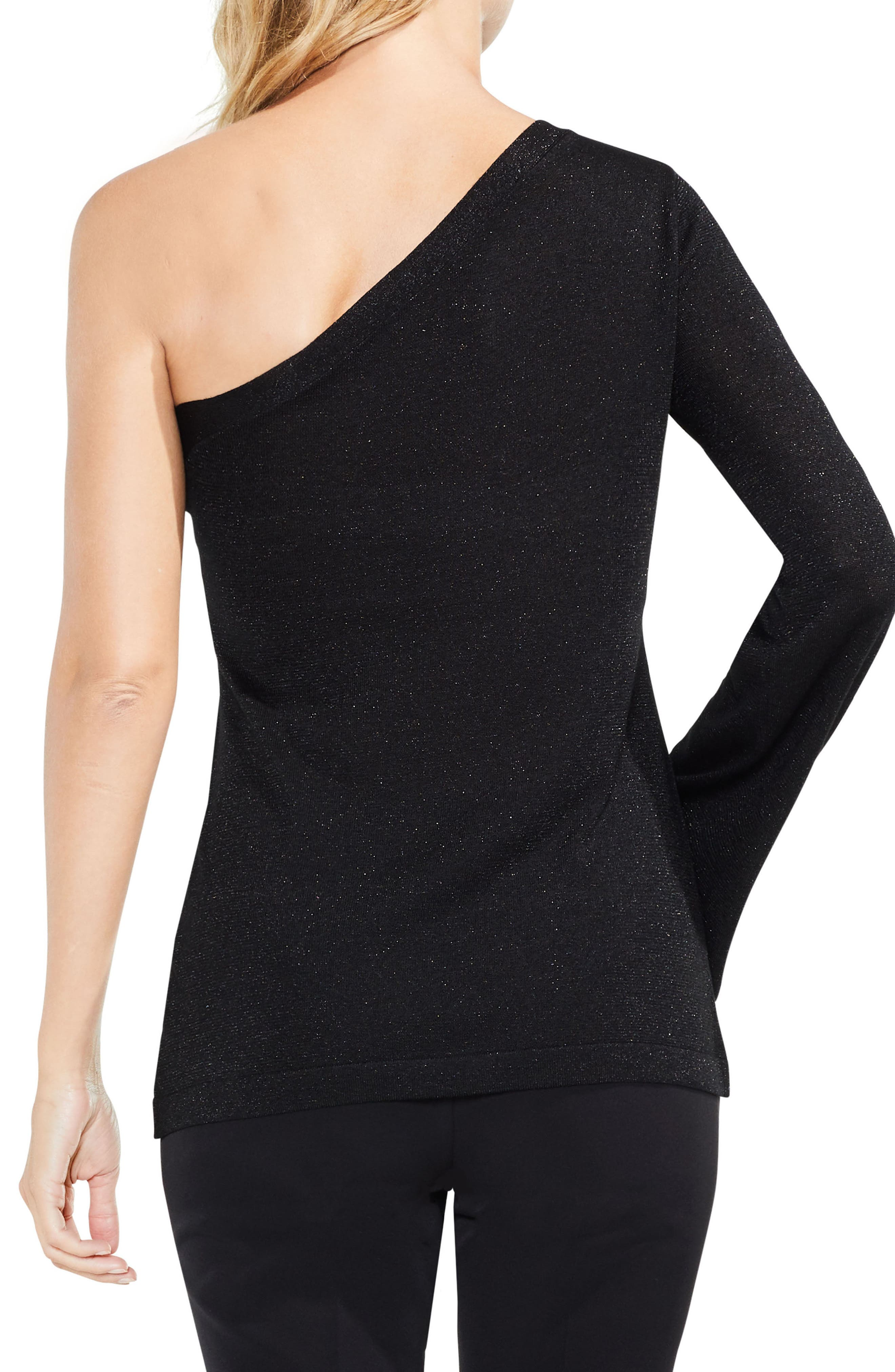 One-Shoulder Bell Sleeve Sweater,                             Alternate thumbnail 3, color,