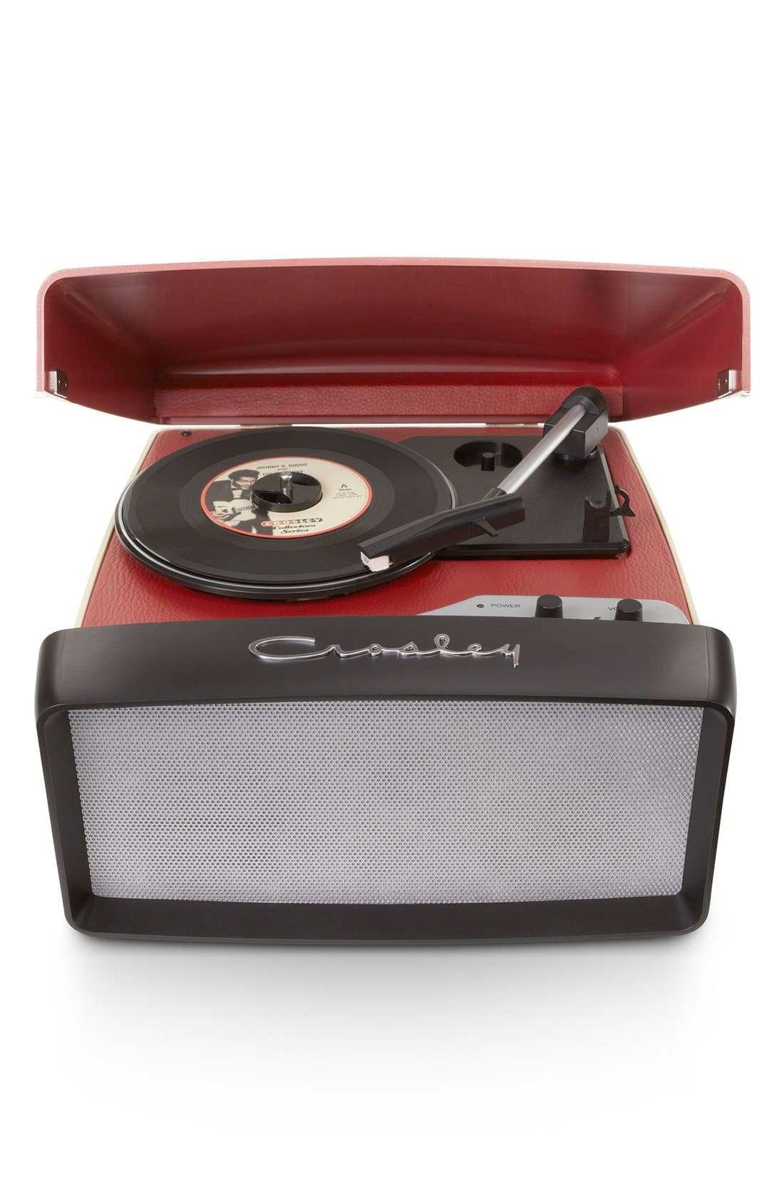 'Collegiate' Turntable,                             Main thumbnail 1, color,                             RED