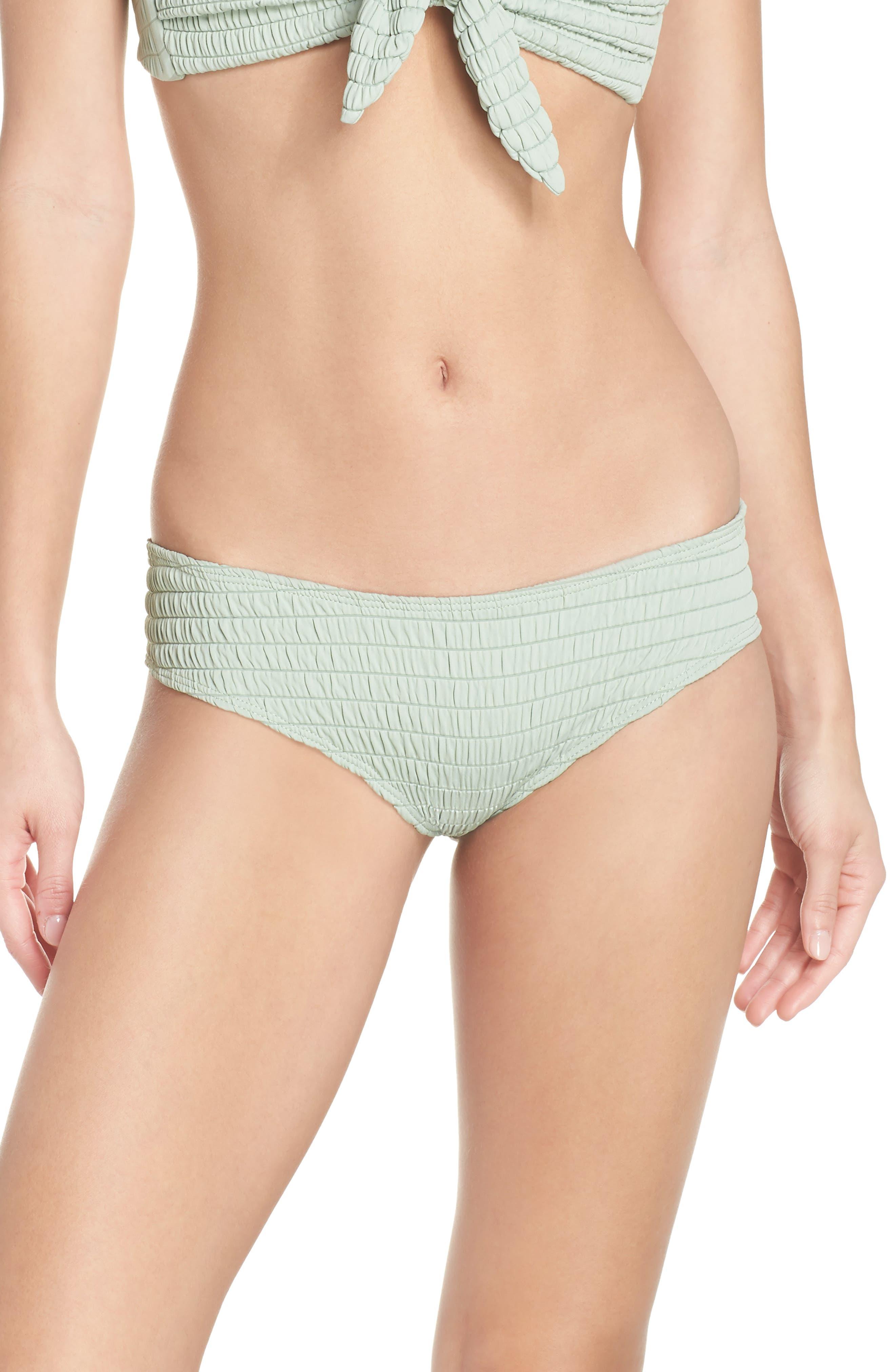 AC Nu Micro Bikini Bottoms,                             Main thumbnail 1, color,                             PISTACHE SCRUNCH GREEN