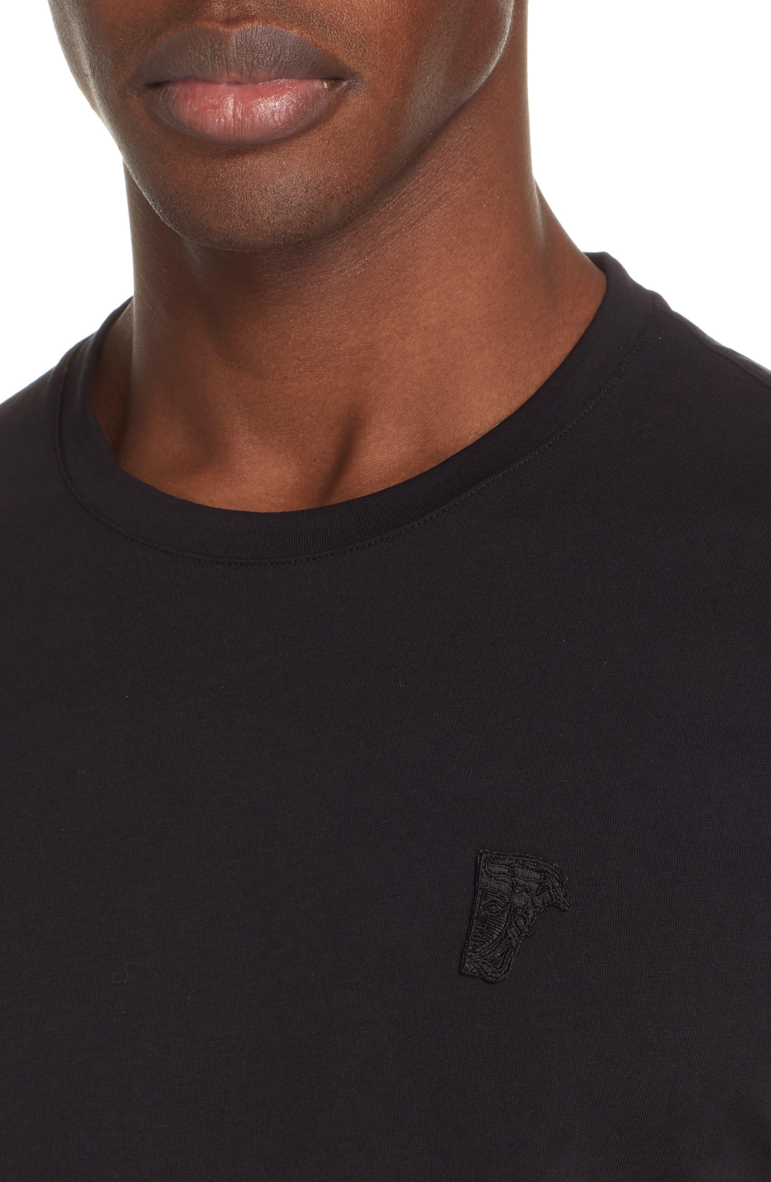 VERSACE COLLECTION,                             Half Medusa T-Shirt,                             Alternate thumbnail 4, color,                             BLACK