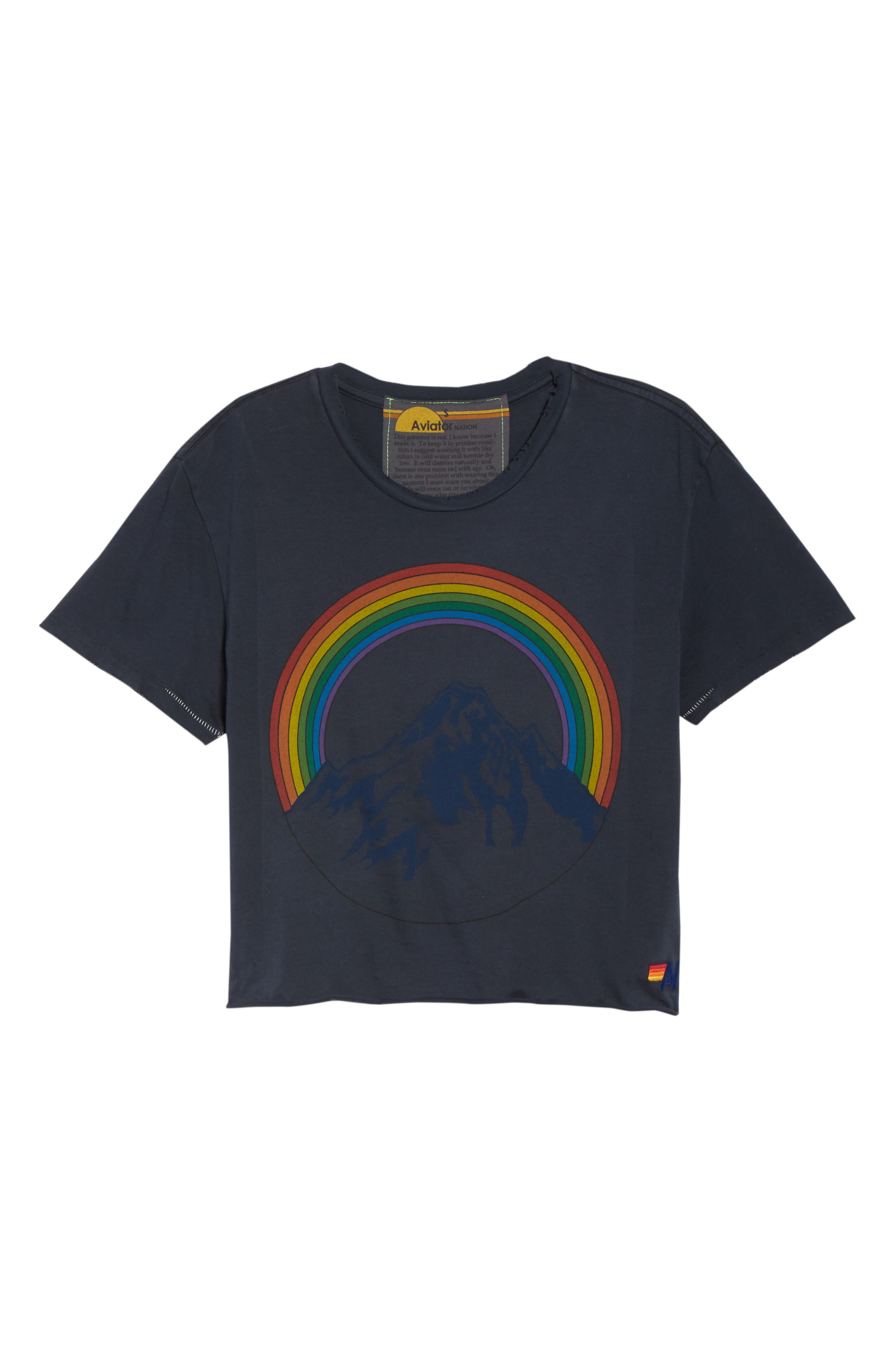 Mountain Rainbow Tee,                             Alternate thumbnail 7, color,                             CHARCOAL