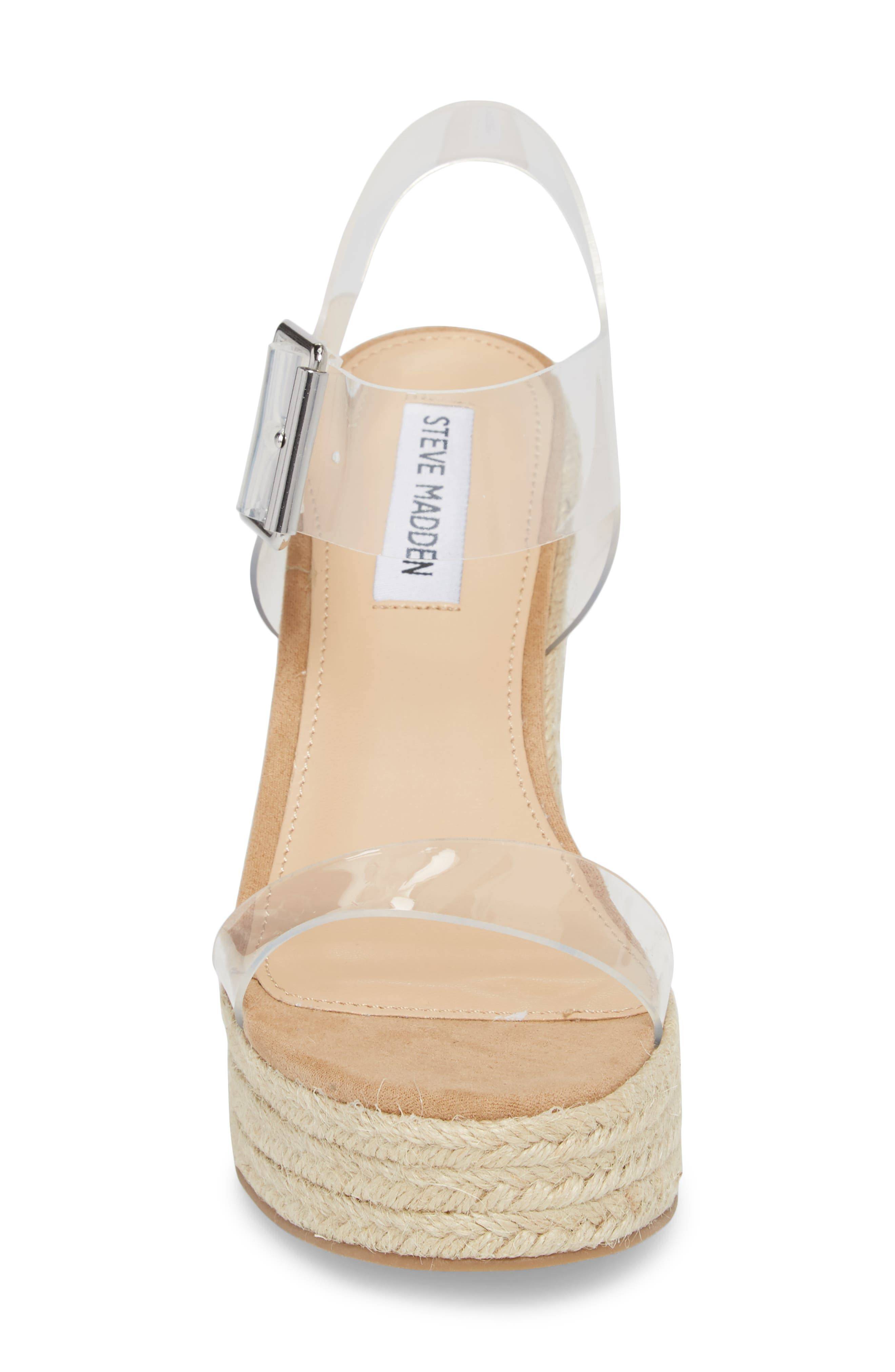 Splash Transparent Strap Wedge Sandal,                             Alternate thumbnail 4, color,                             250