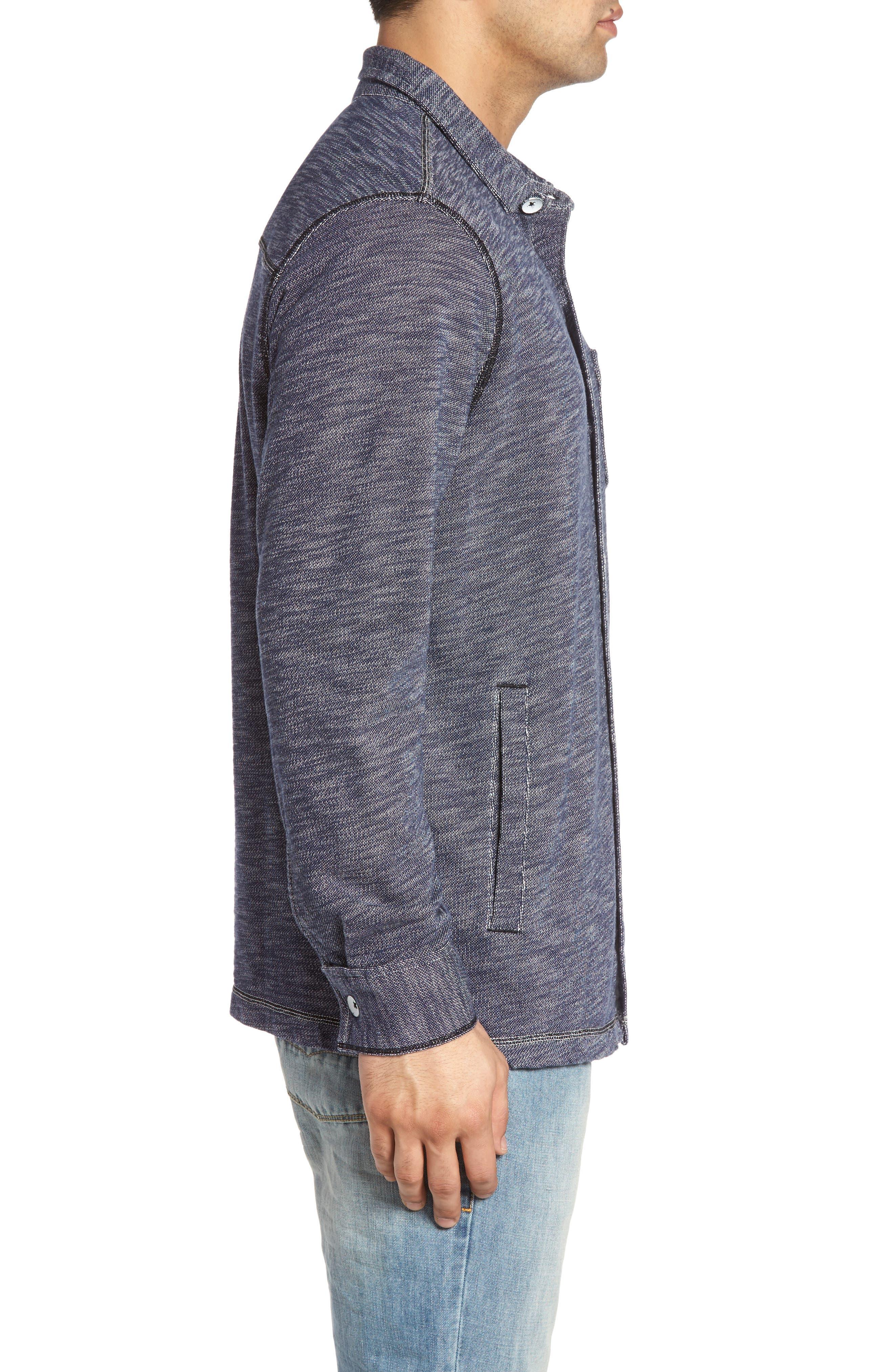 Beach Ridge Shirt Jacket,                             Alternate thumbnail 3, color,                             400