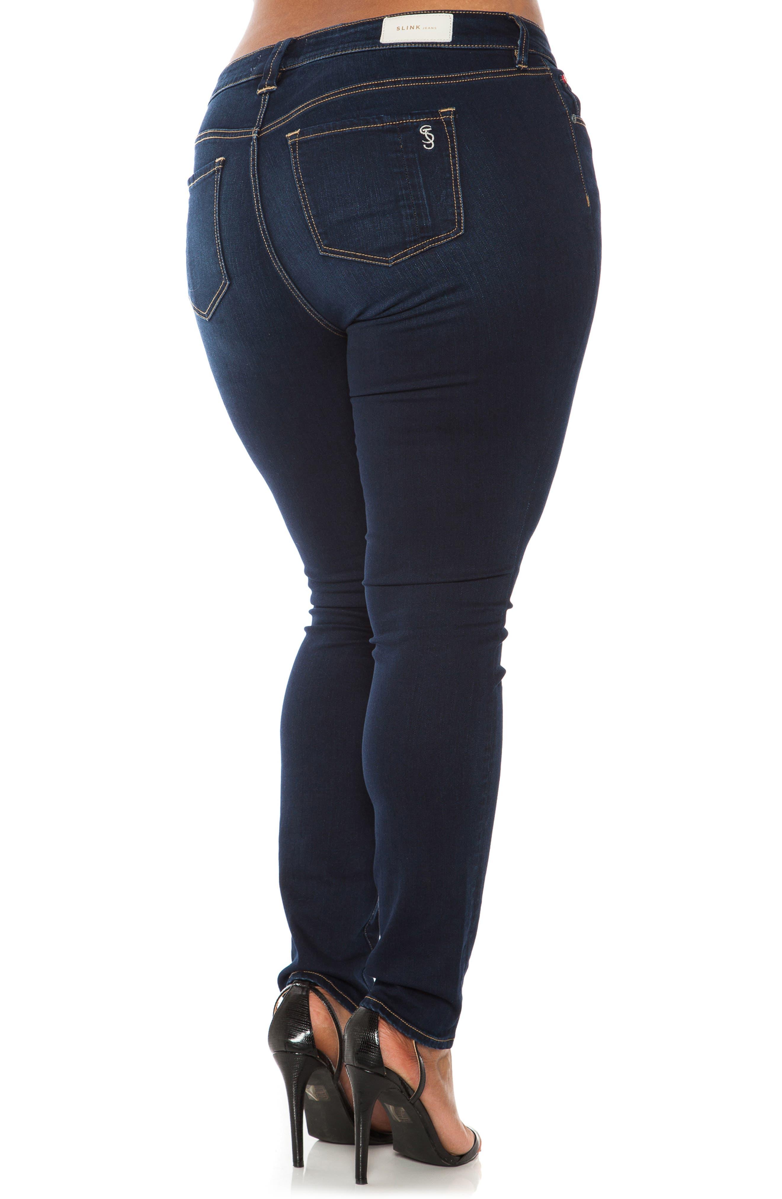 'The Skinny' Stretch Denim Jeans,                             Alternate thumbnail 3, color,                             AMBER