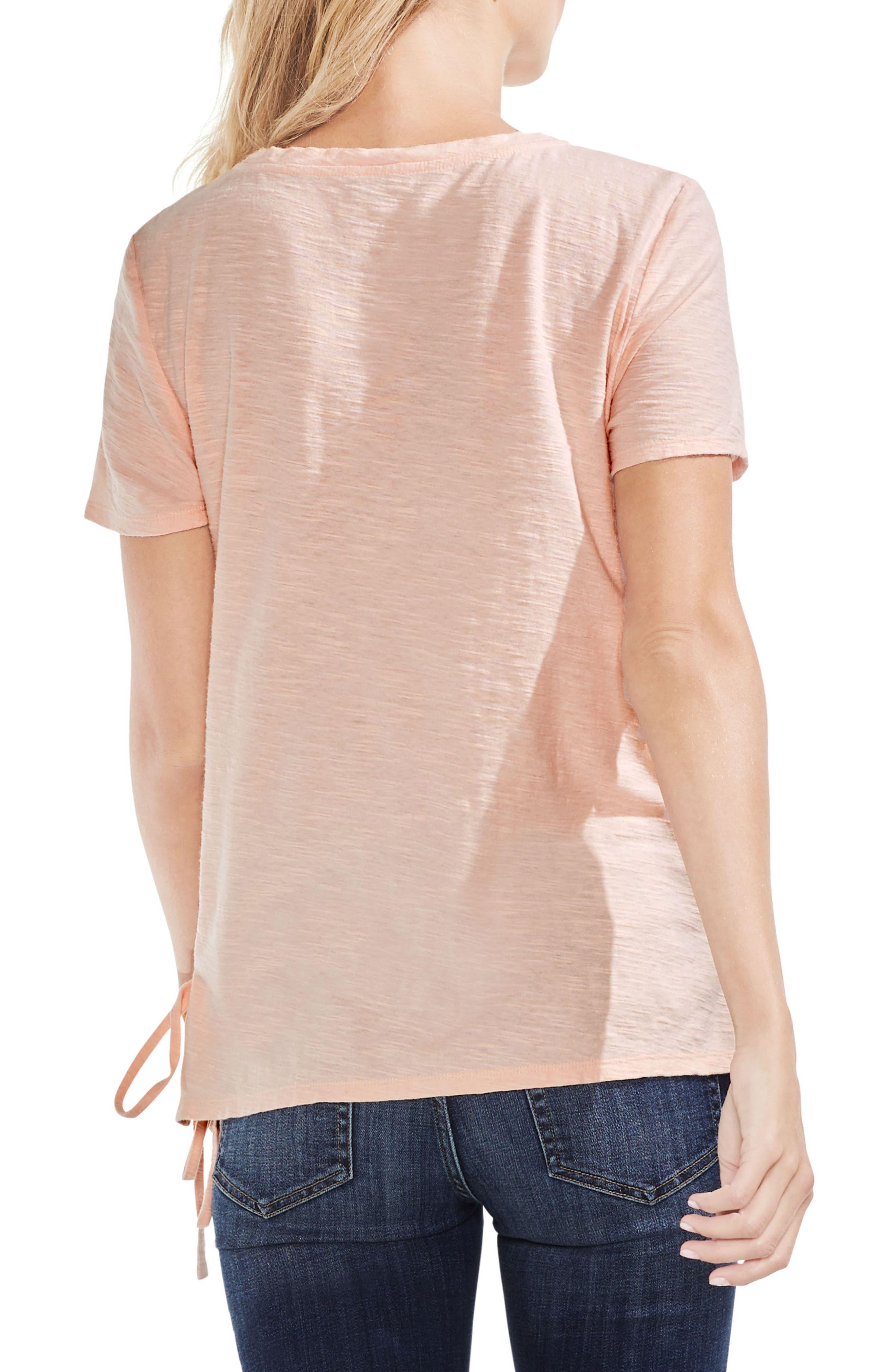 Side Lace-Up Cotton Slub Top,                             Alternate thumbnail 18, color,