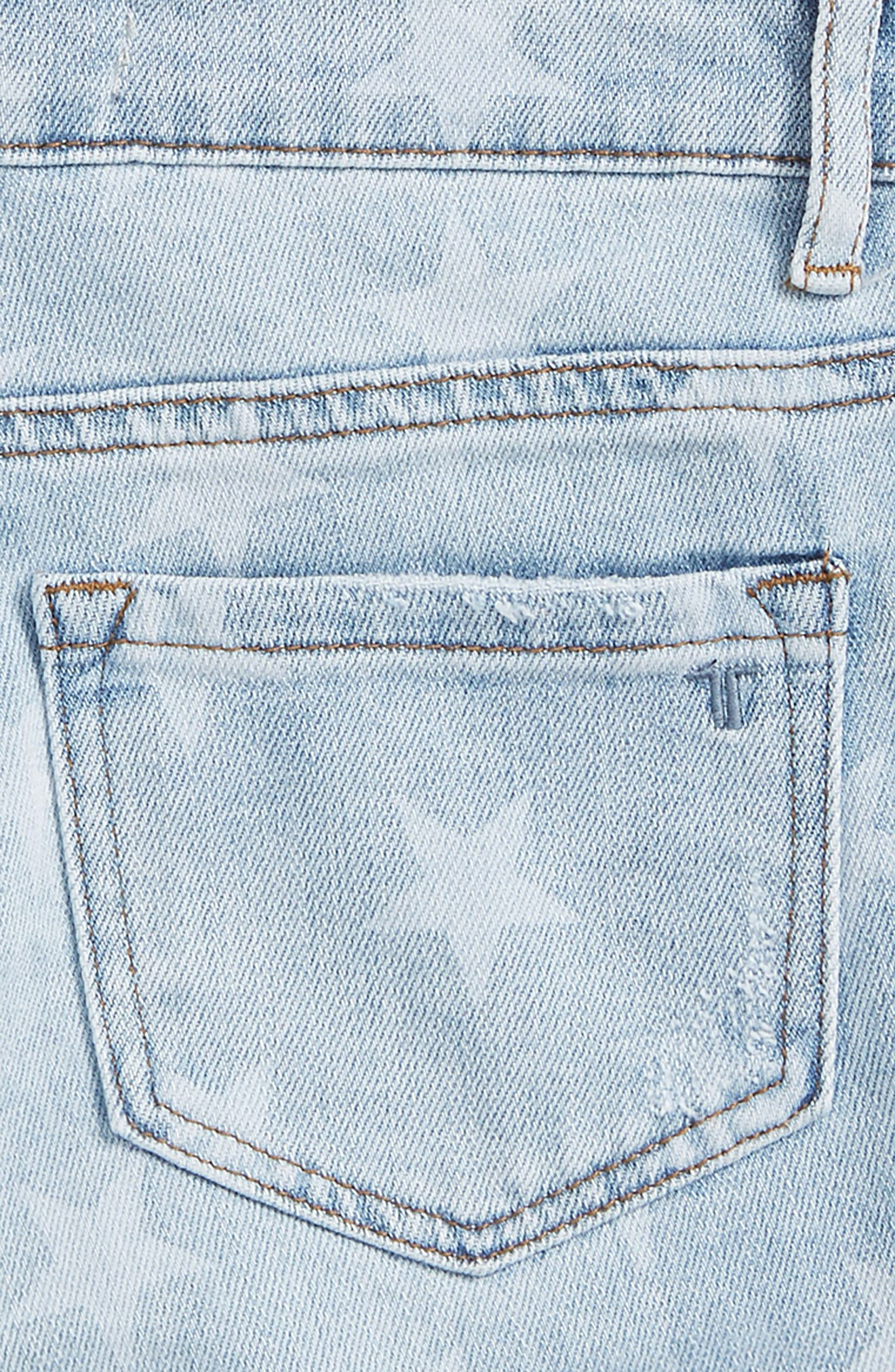 Star Roll Distressed Denim Shorts,                             Alternate thumbnail 3, color,                             461
