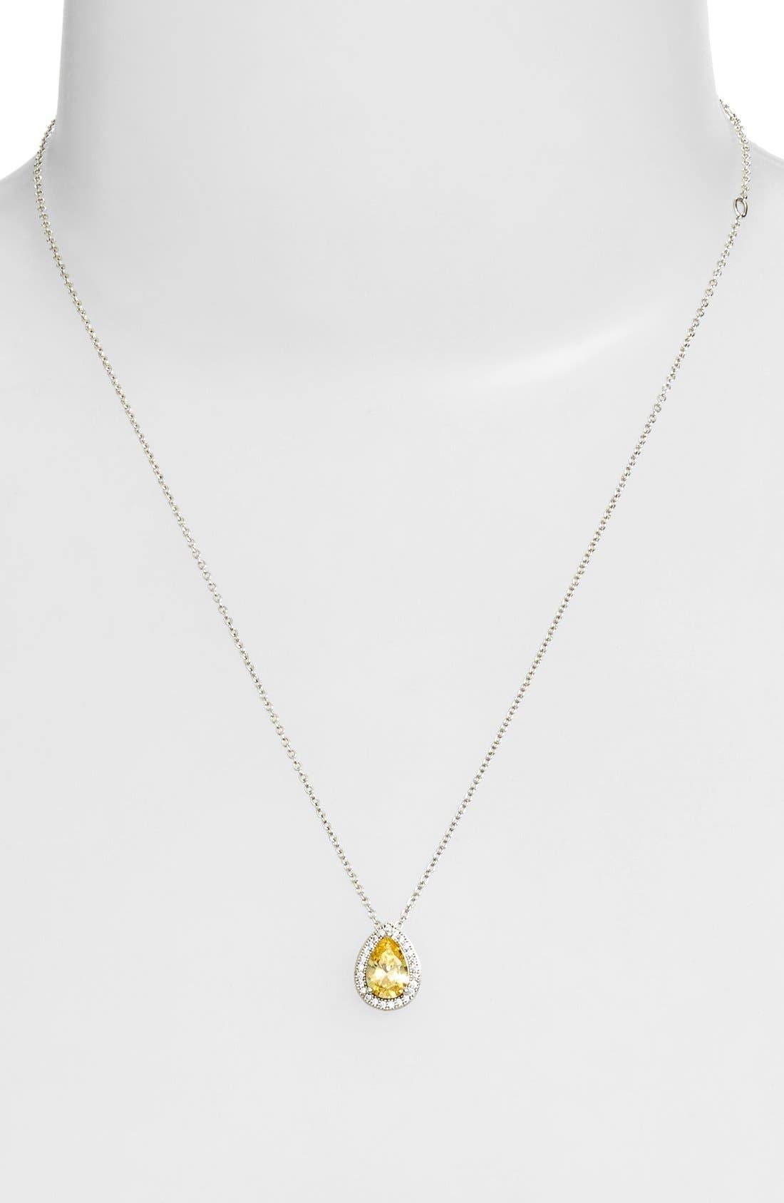 'Lassaire' CanaryStone Pendant Necklace,                             Alternate thumbnail 2, color,                             700