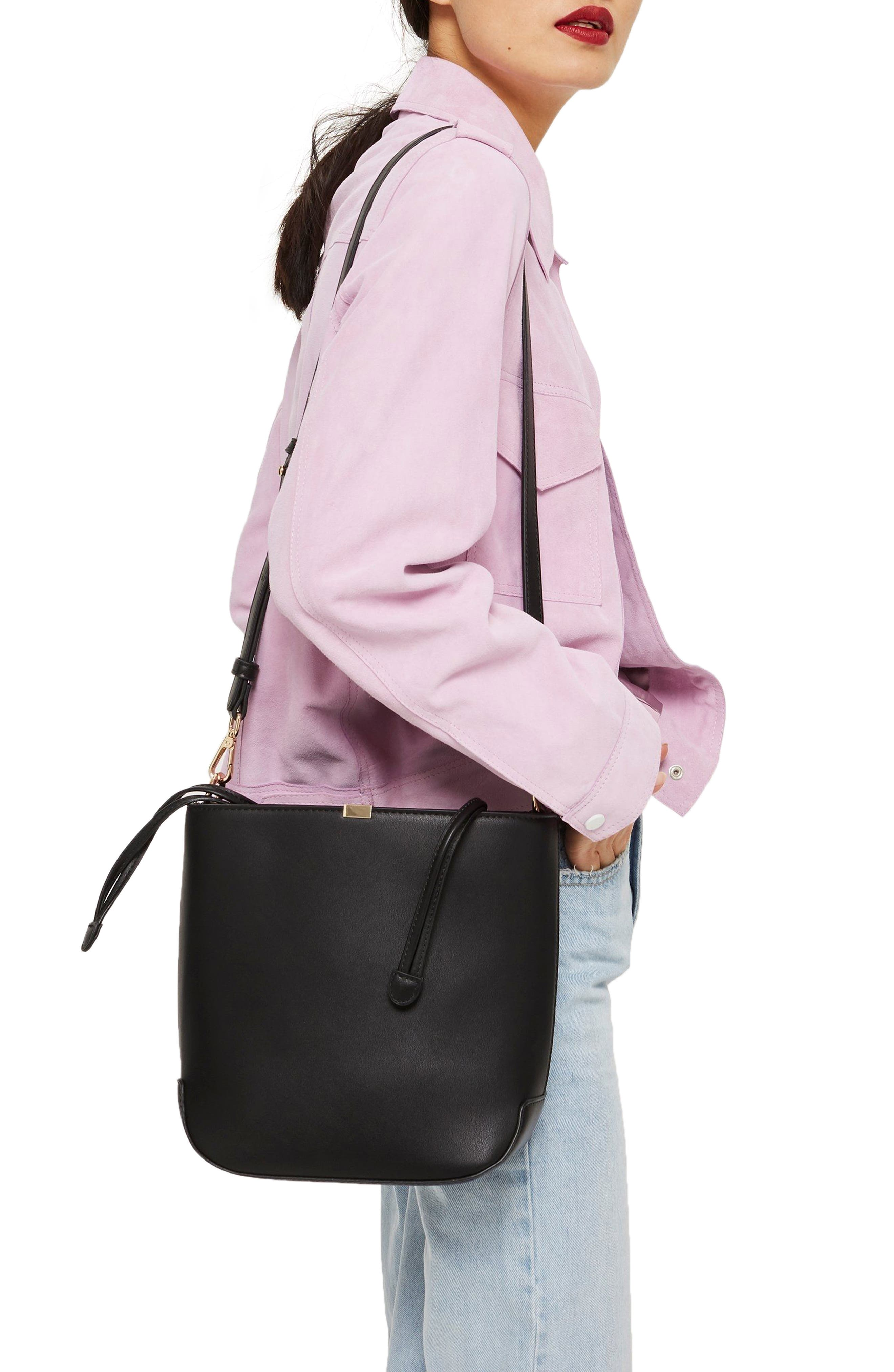 Romy Bucket Shoulder Handbag,                             Alternate thumbnail 2, color,                             001