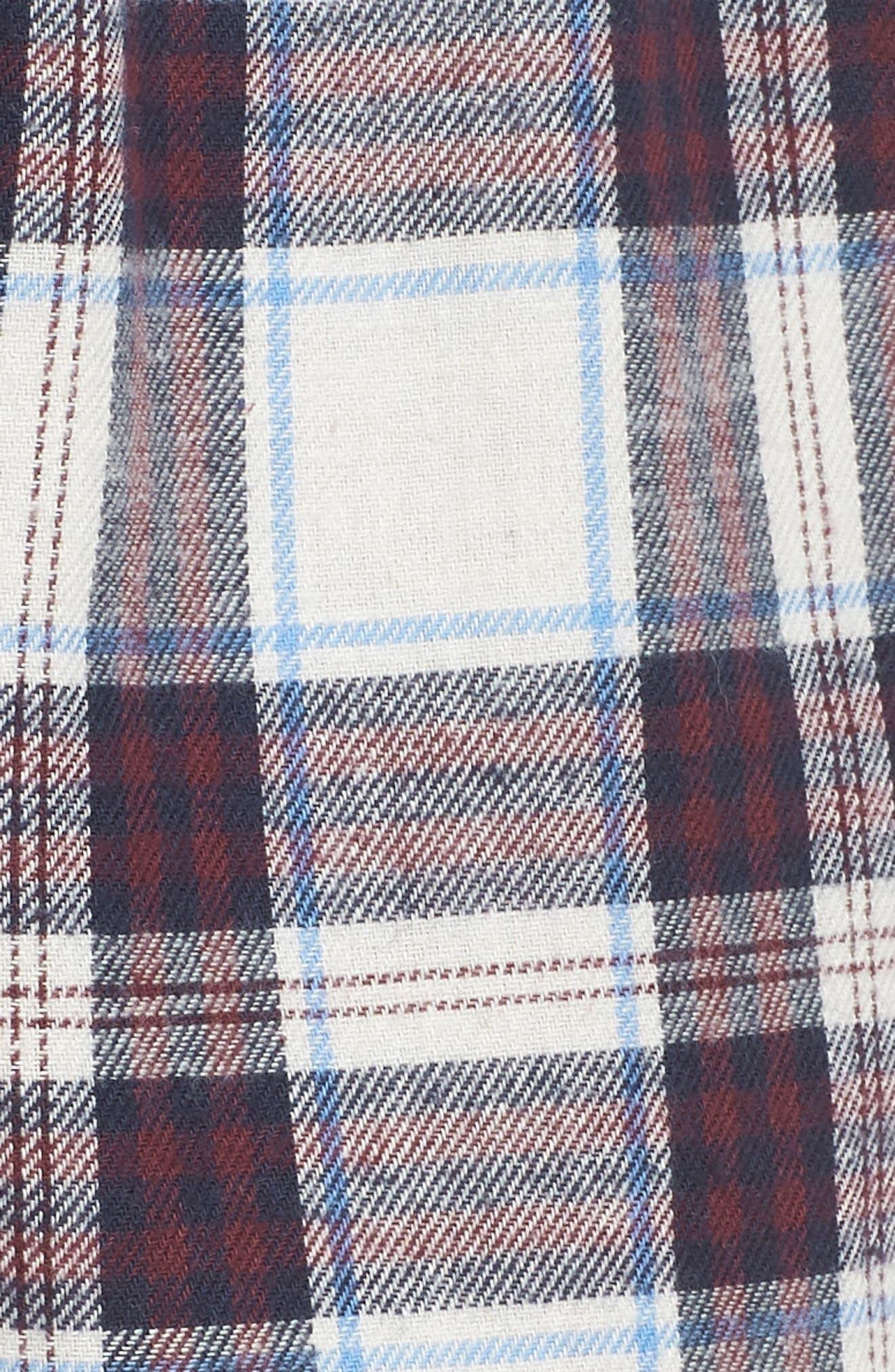 Plaid Pajama Shorts,                             Alternate thumbnail 5, color,                             SWEET DREAMS FIG TARTAN