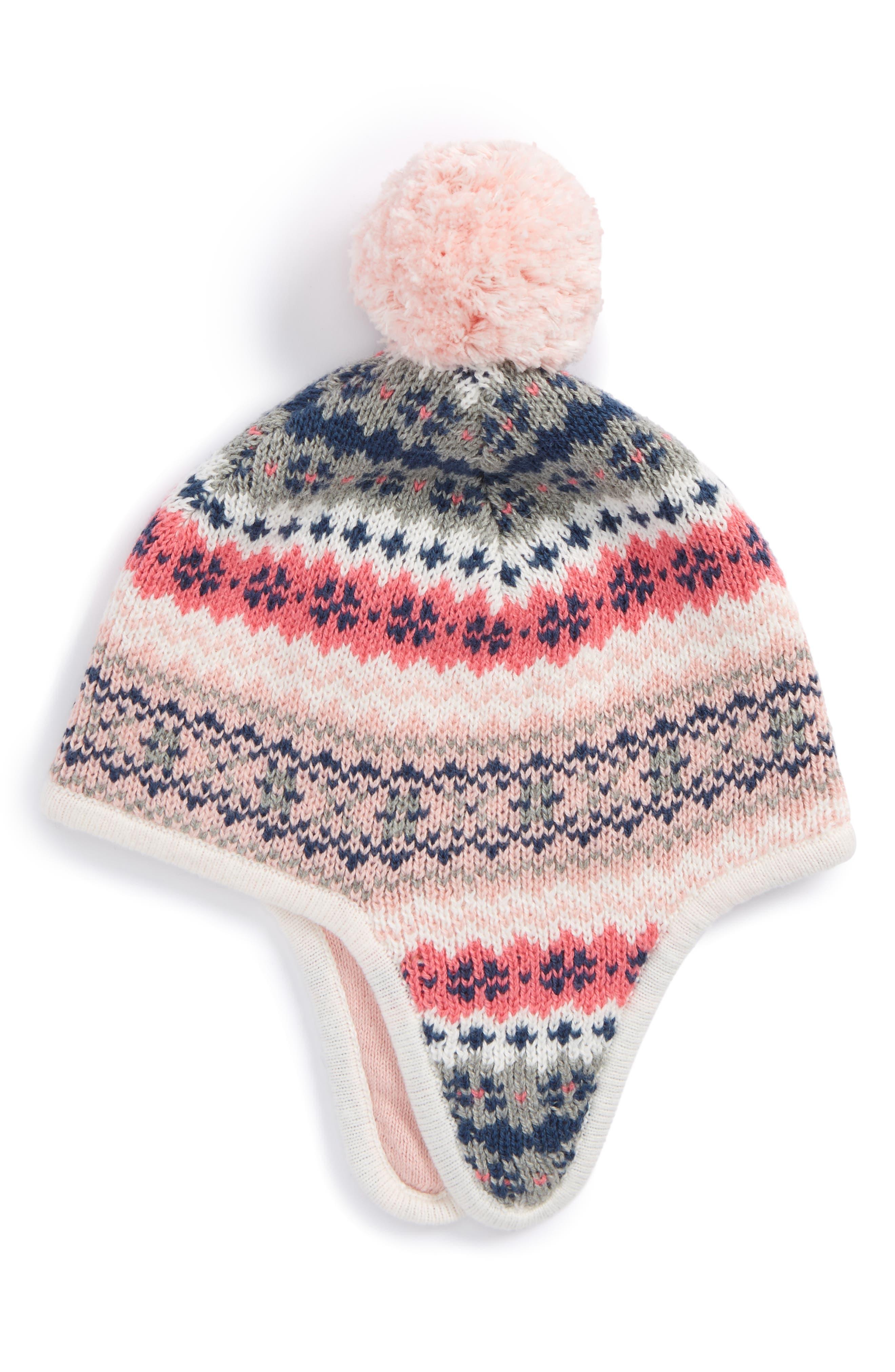Fair Isle Earflap Hat,                             Main thumbnail 3, color,