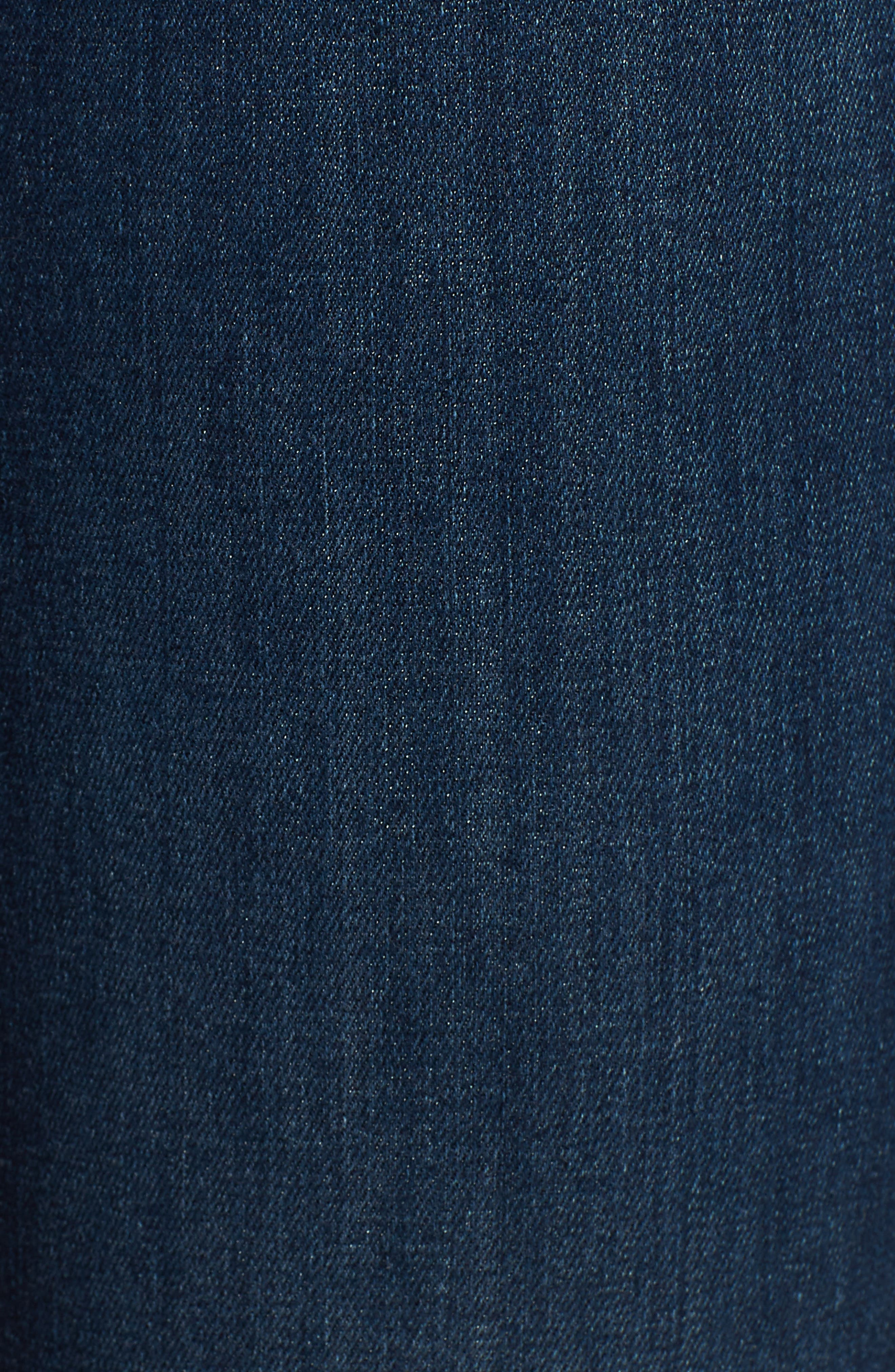 Scallop Hem Ankle Skinny Jeans,                             Alternate thumbnail 6, color,                             MIDNIGHT MOON