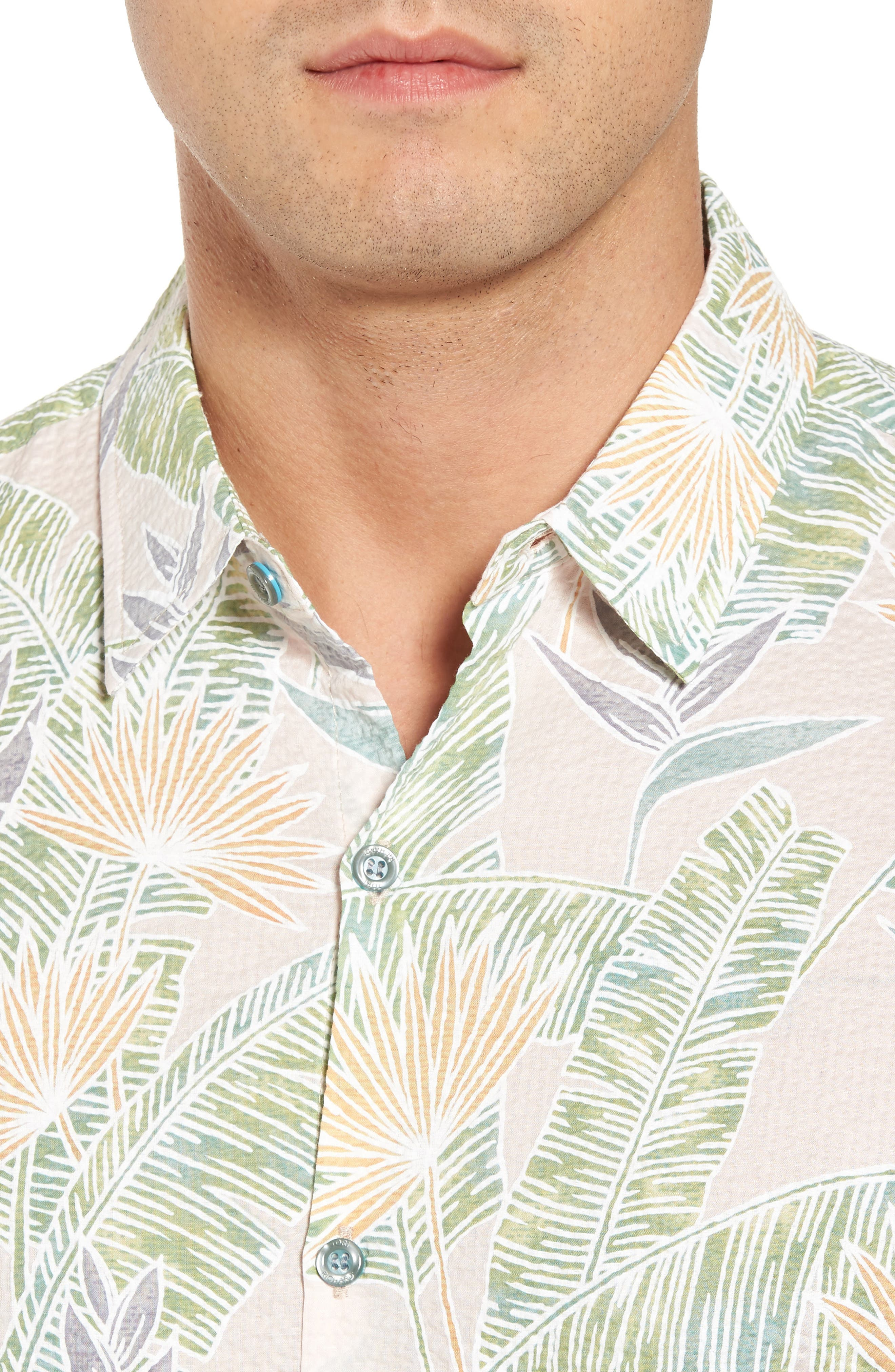 Sunbird Classic Fit Print Sport Shirt,                             Alternate thumbnail 8, color,