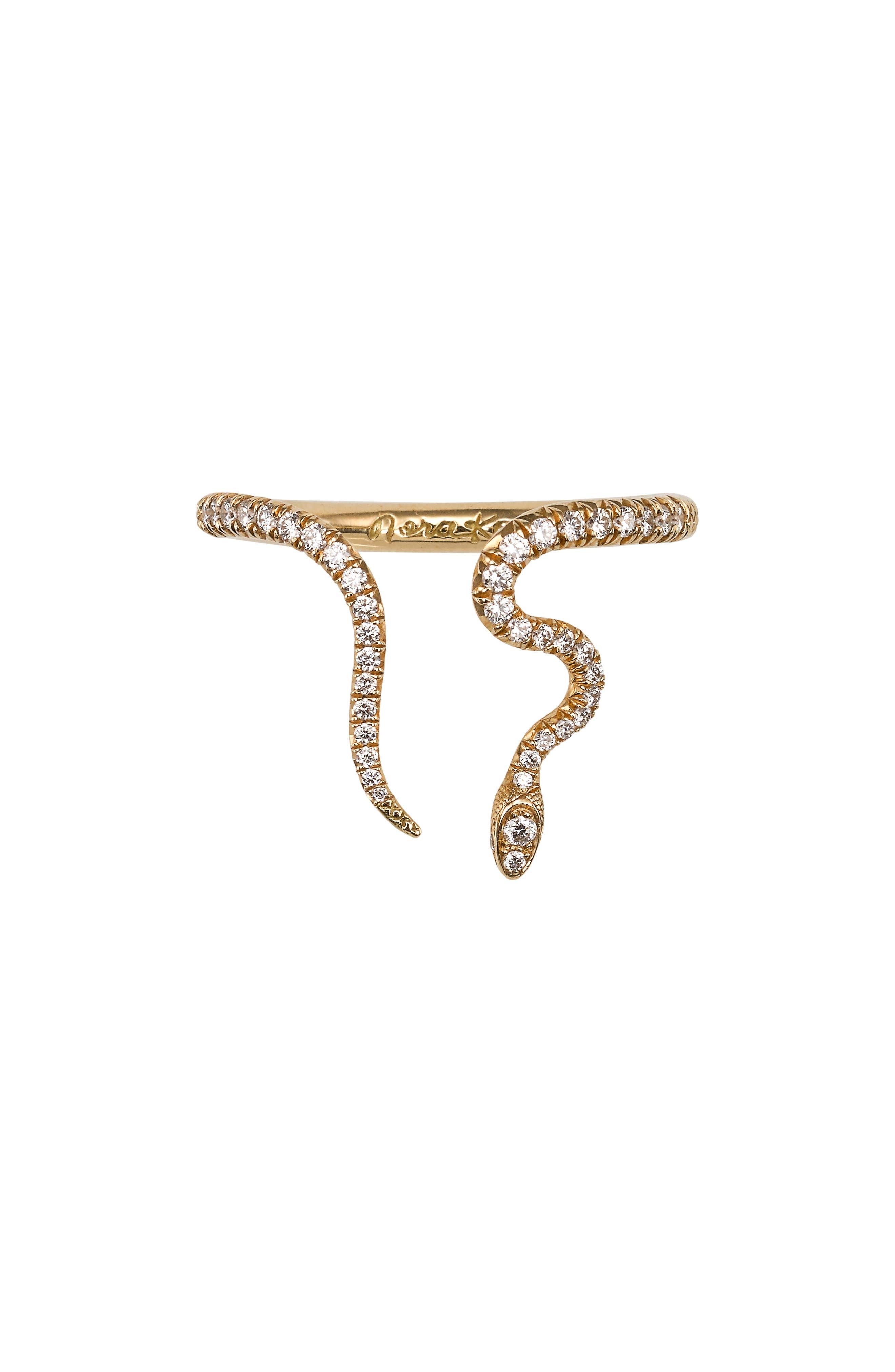 Alexandra Diamond Open Snake Ring,                         Main,                         color, YELLOW GOLD