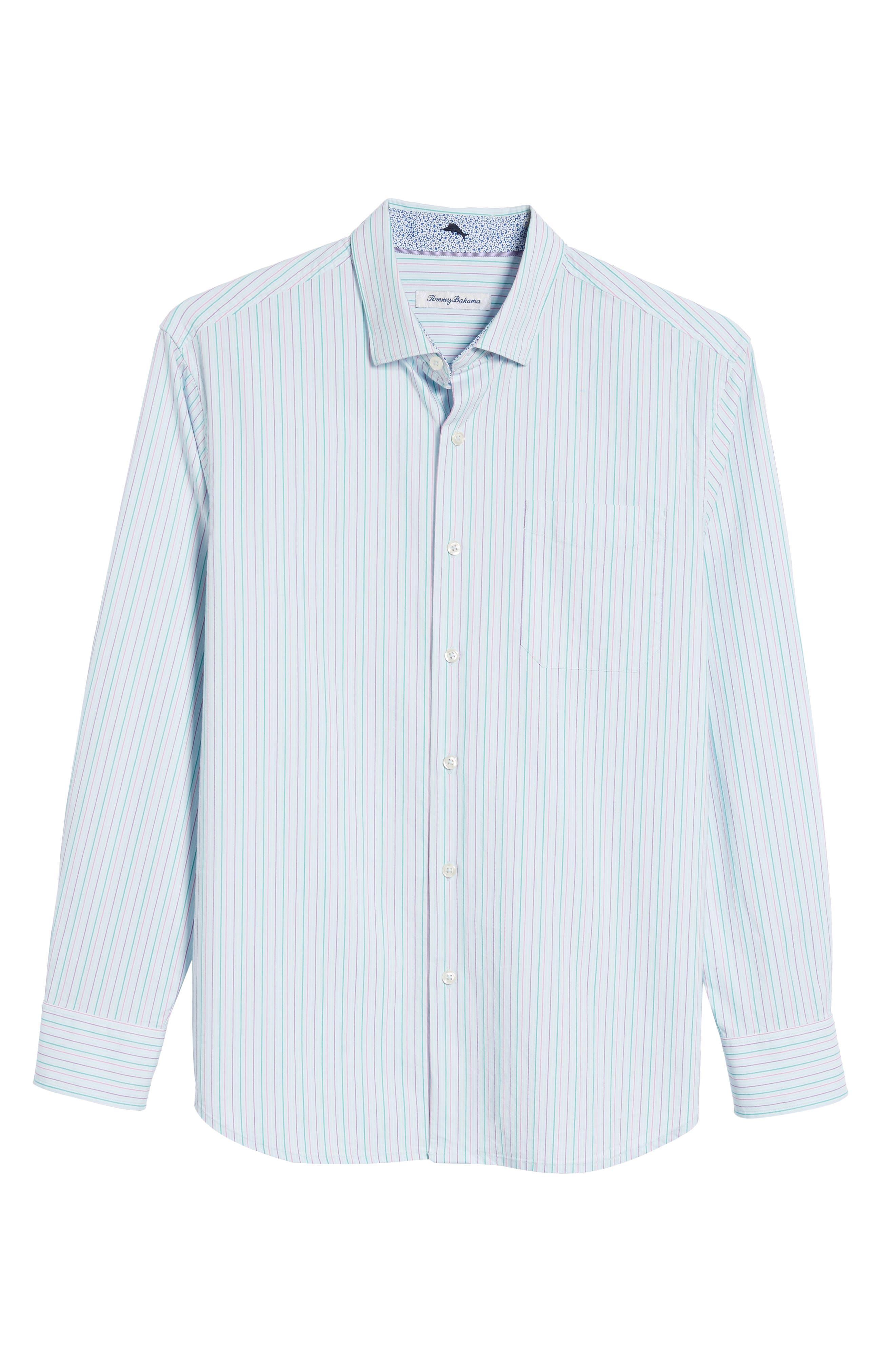 Tallahassee Cotton & Silk Blend Sport Shirt,                             Alternate thumbnail 6, color,                             400