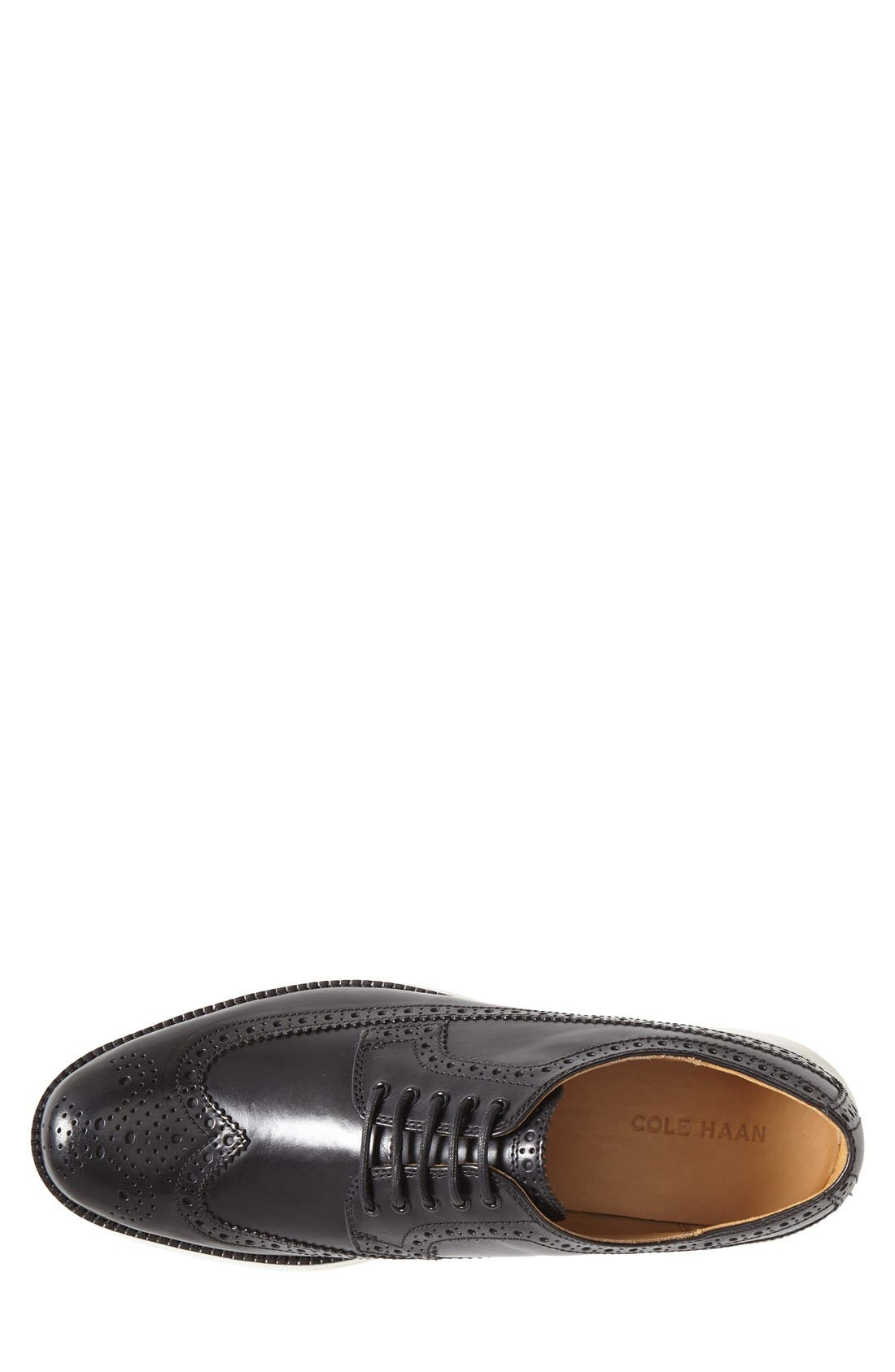 COLE HAAN,                             'LunarGrand' Wingtip,                             Alternate thumbnail 4, color,                             001