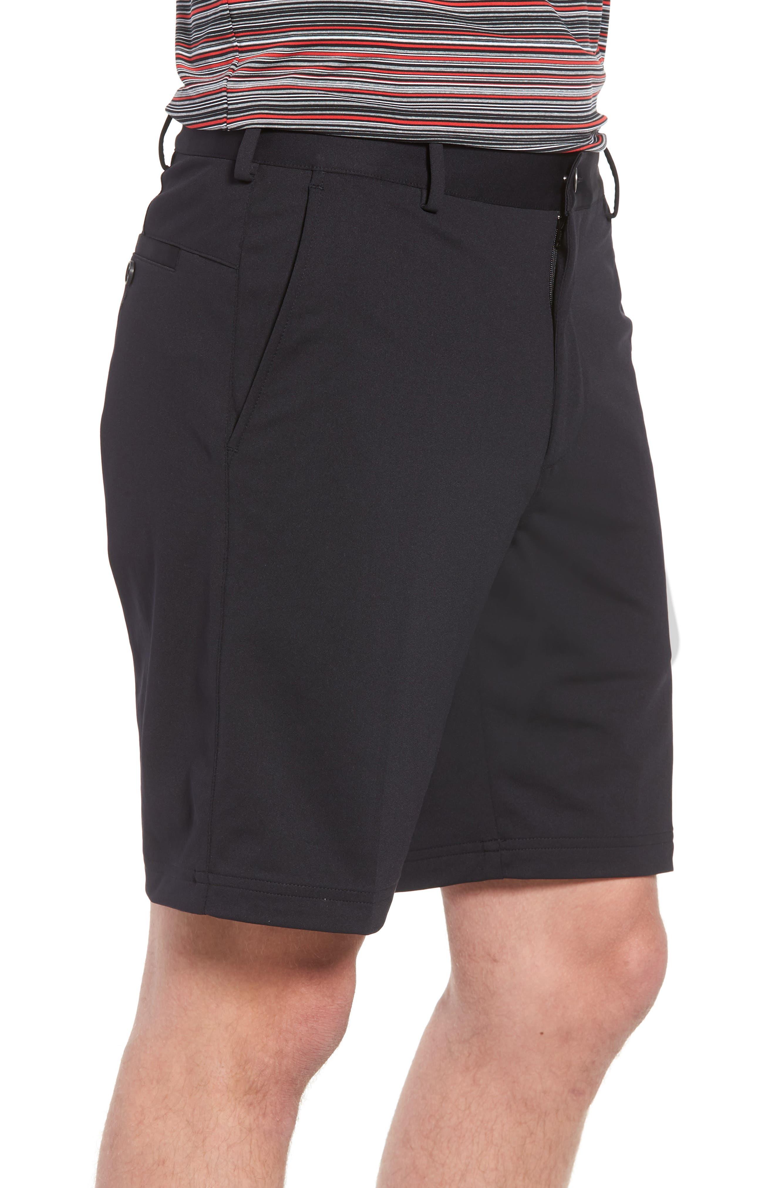 BOBBY JONES,                             Trim Fit Tech Chino Shorts,                             Alternate thumbnail 3, color,                             001