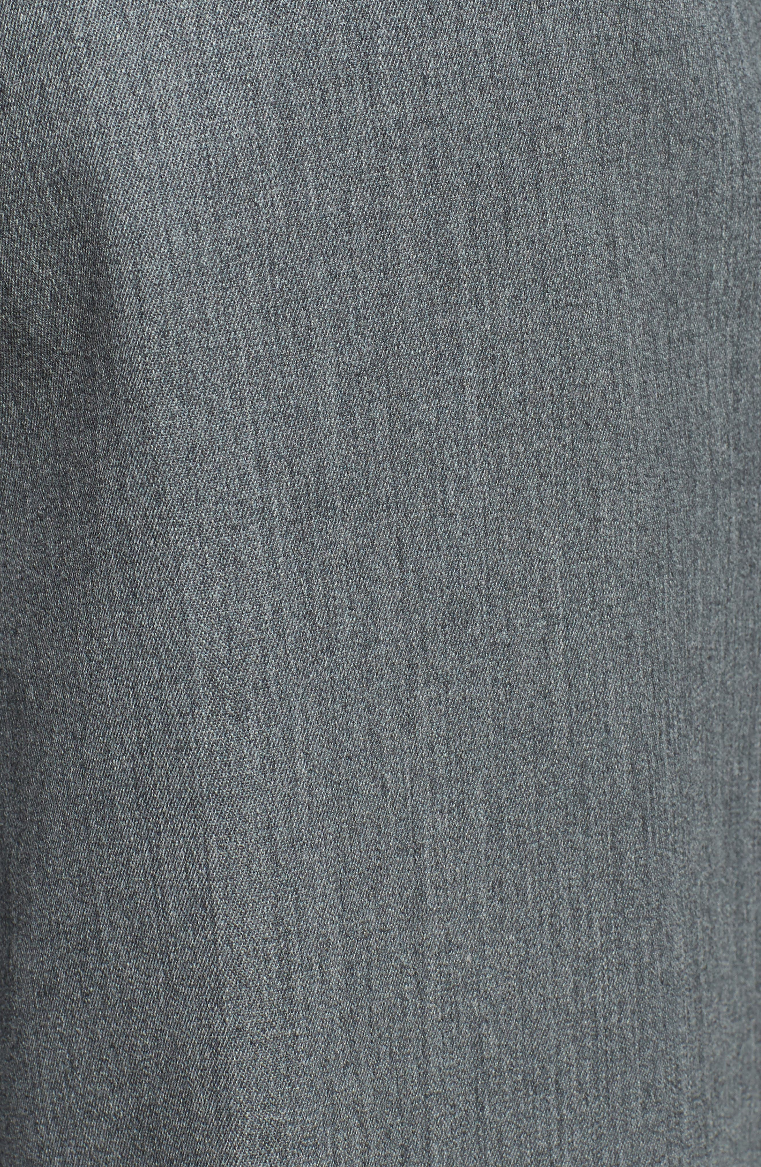 Self Sizer Waist Pleated Wool Gabardine Trousers,                             Alternate thumbnail 4, color,                             MEDIUM GREY