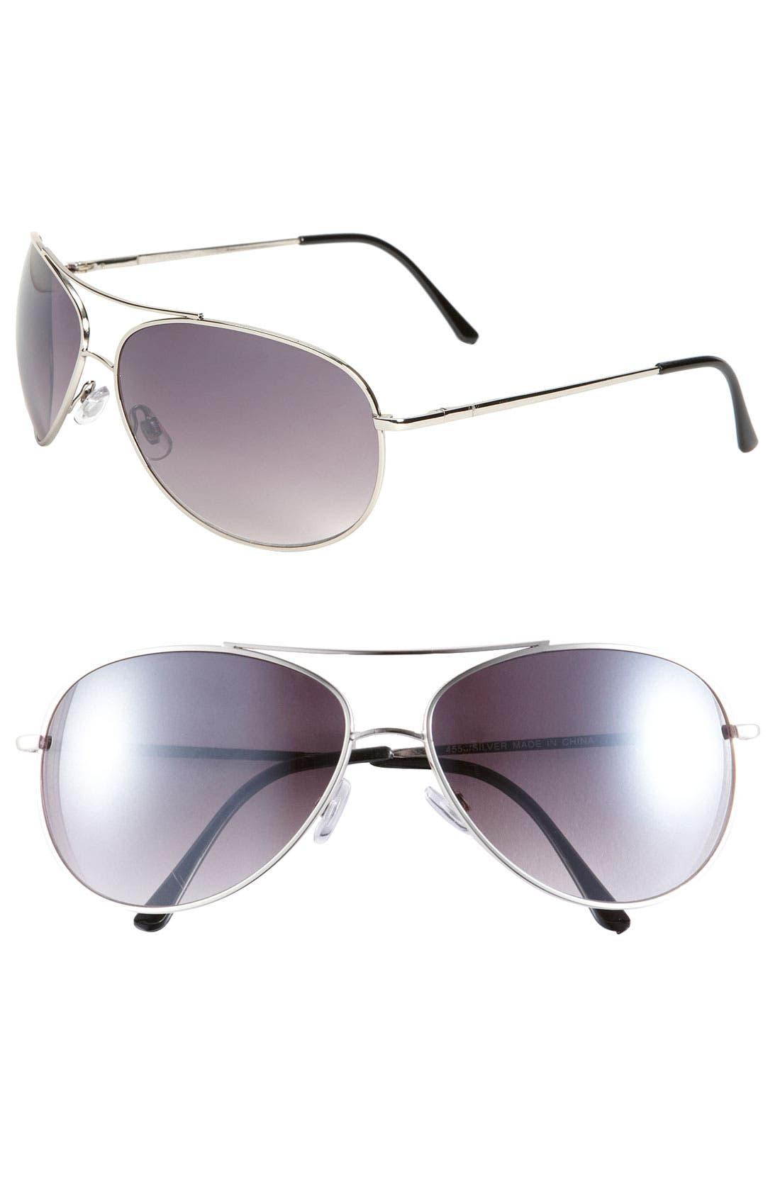 'Strike' Aviator Sunglasses,                             Main thumbnail 1, color,                             069