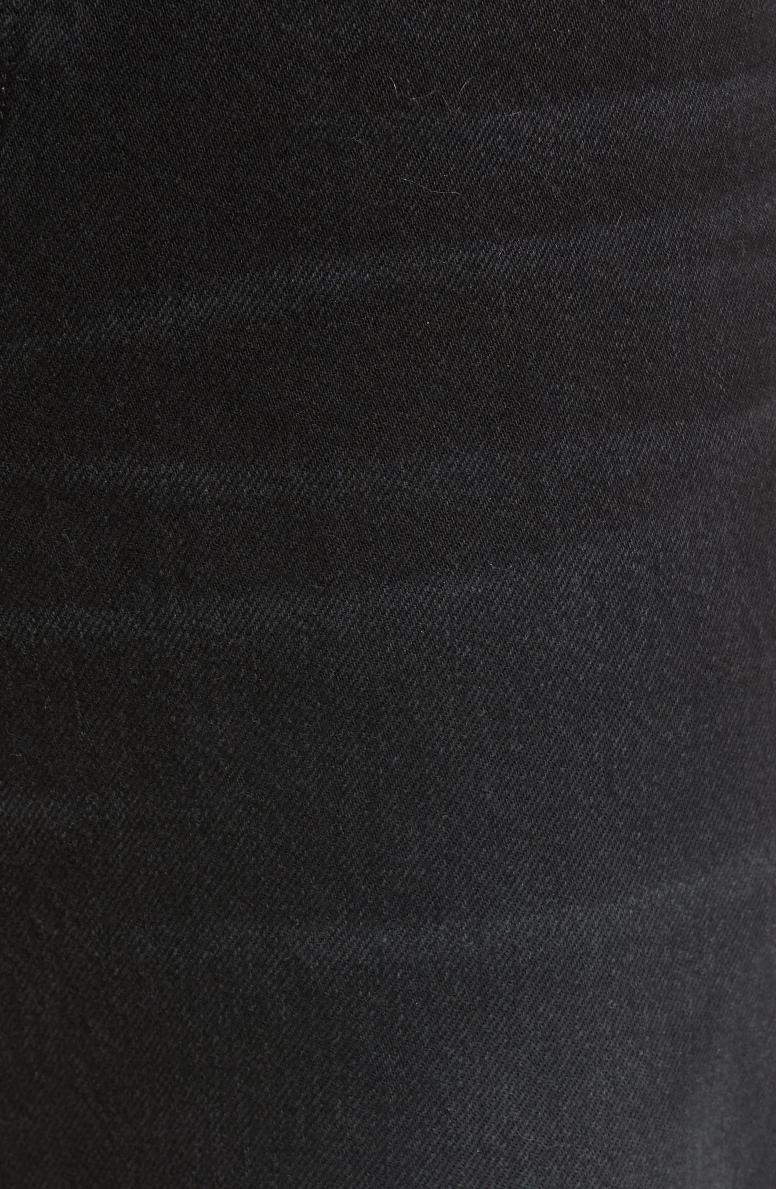 Dixon Straight Fit Jeans,                             Alternate thumbnail 5, color,                             001