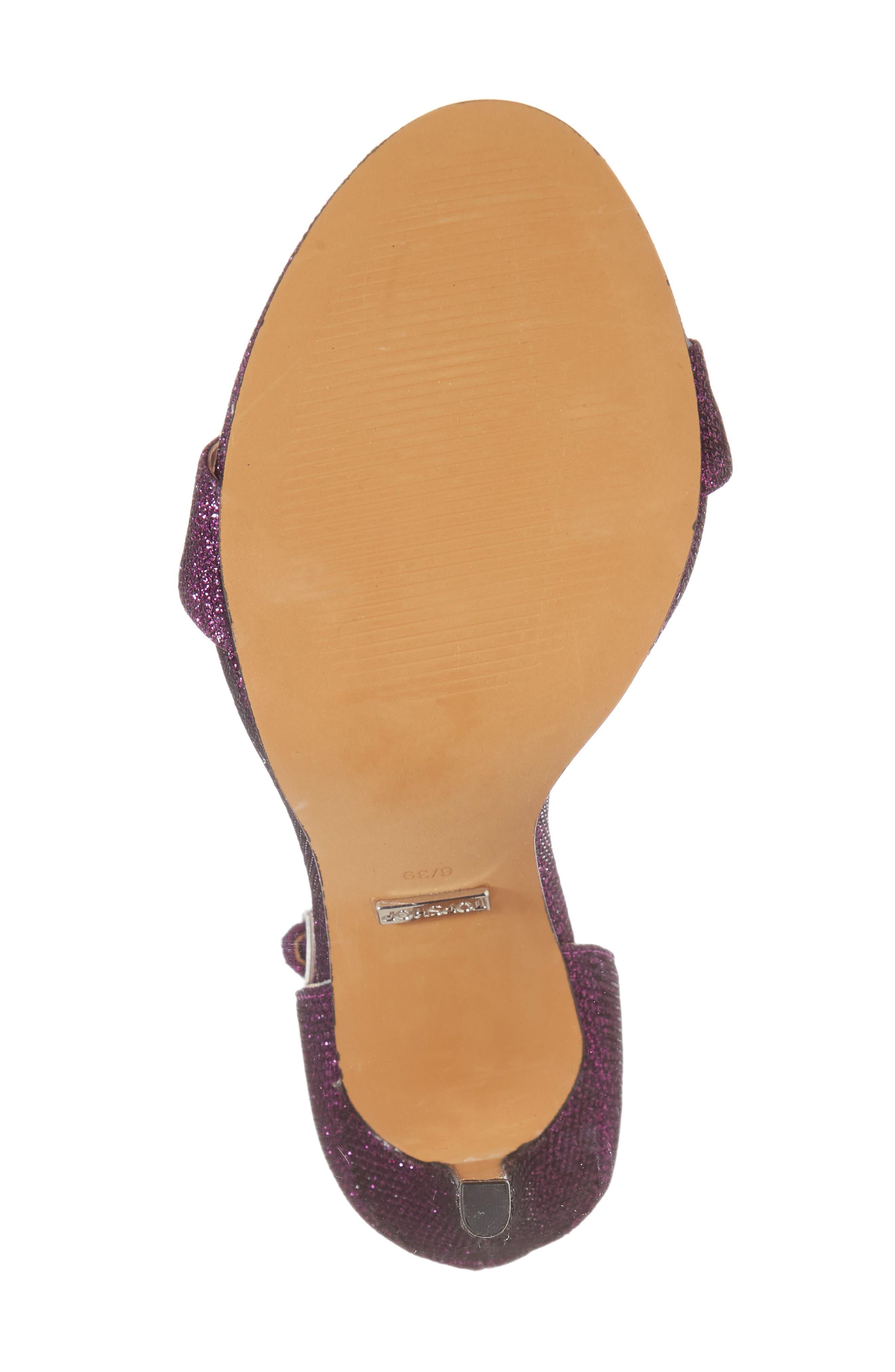 Raphie Ankle Strap Sandal,                             Alternate thumbnail 6, color,                             PURPLE