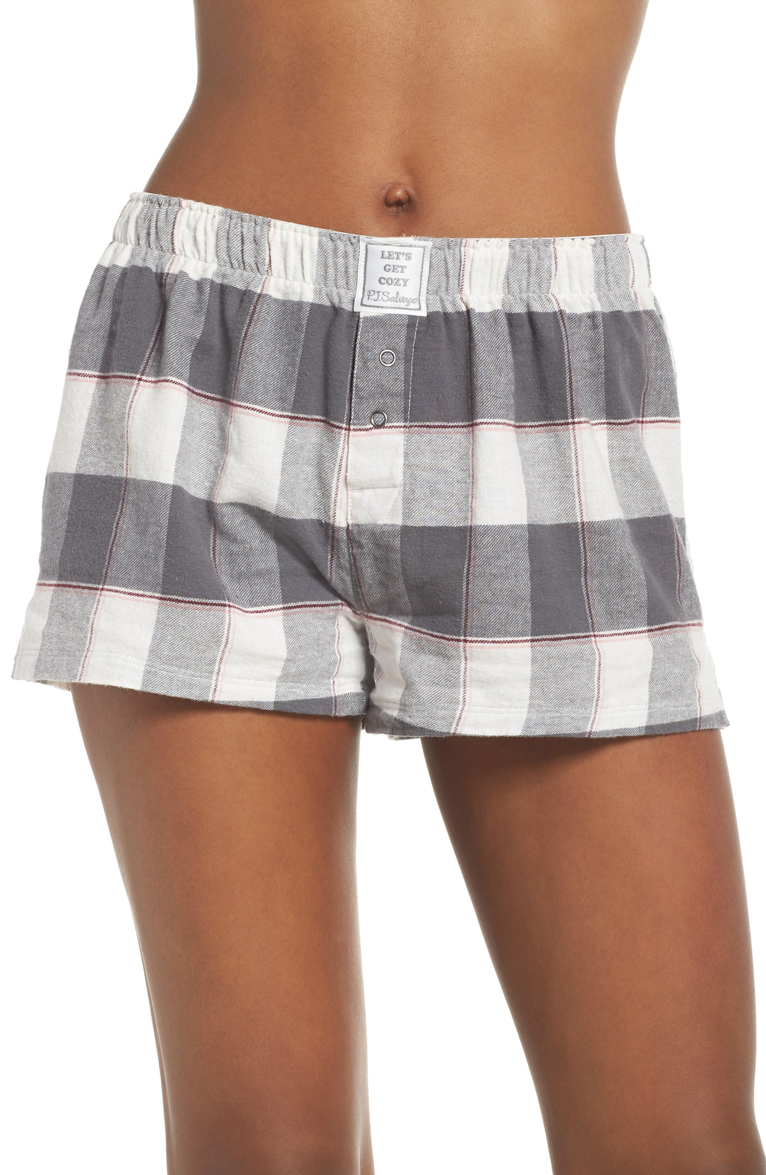 PJ SALVAGE,                             Cozy Time Shorts,                             Main thumbnail 1, color,                             028