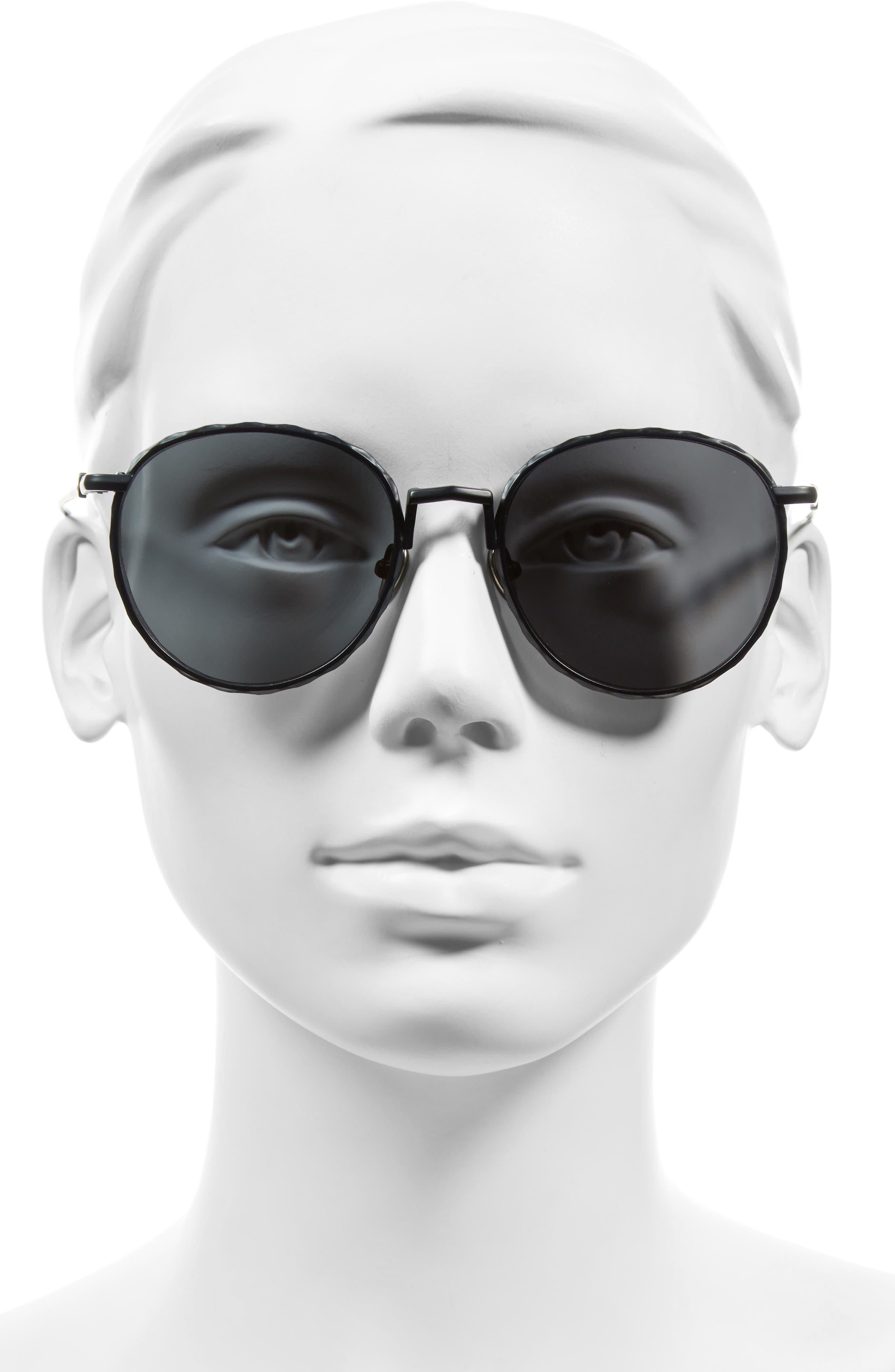 Corpus 53mm Round Sunglasses,                             Alternate thumbnail 3, color,                             001