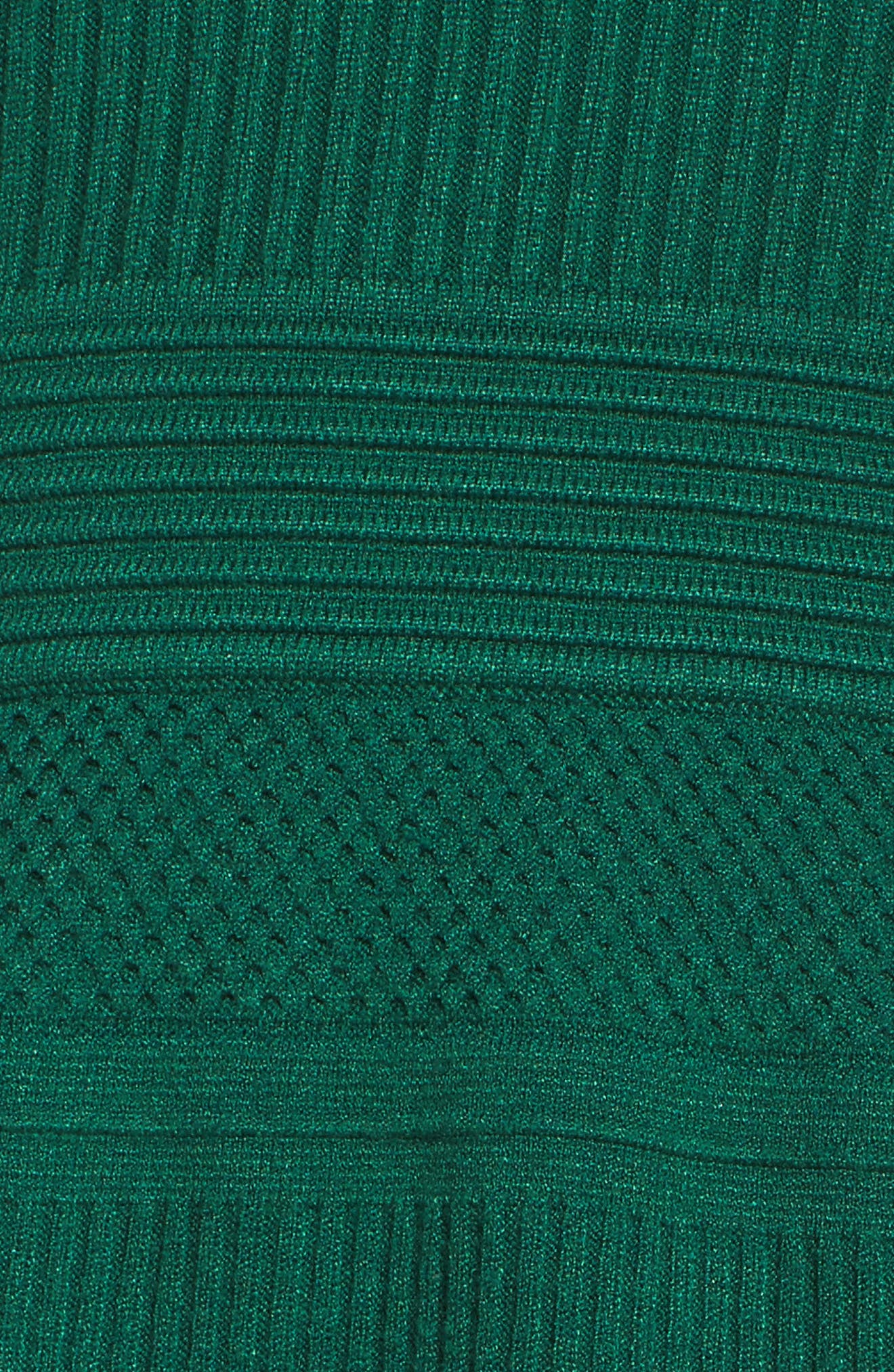 Fit & Flare Sweater Dress,                             Alternate thumbnail 18, color,