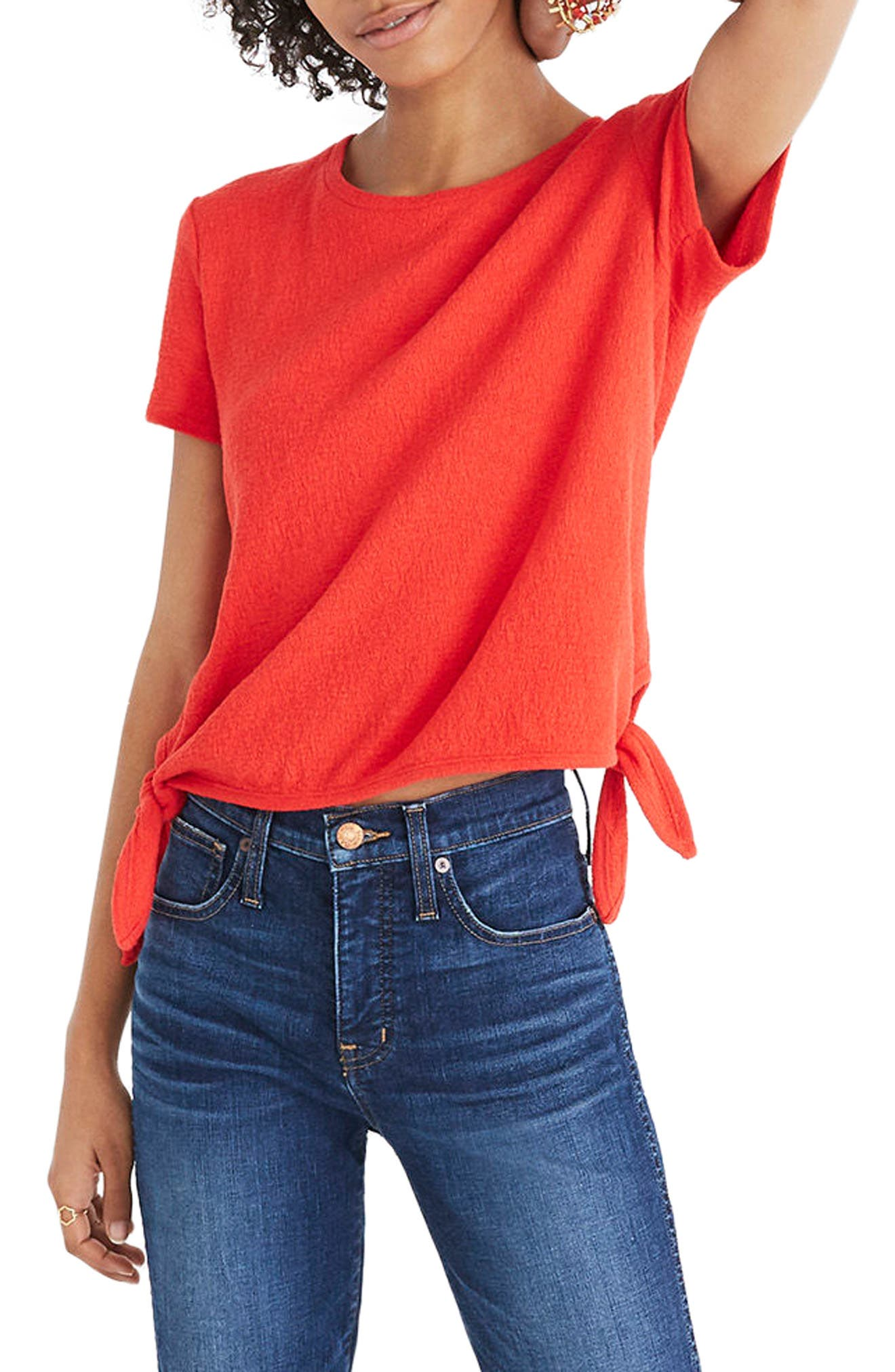 Modern Side Tie Top,                             Main thumbnail 4, color,