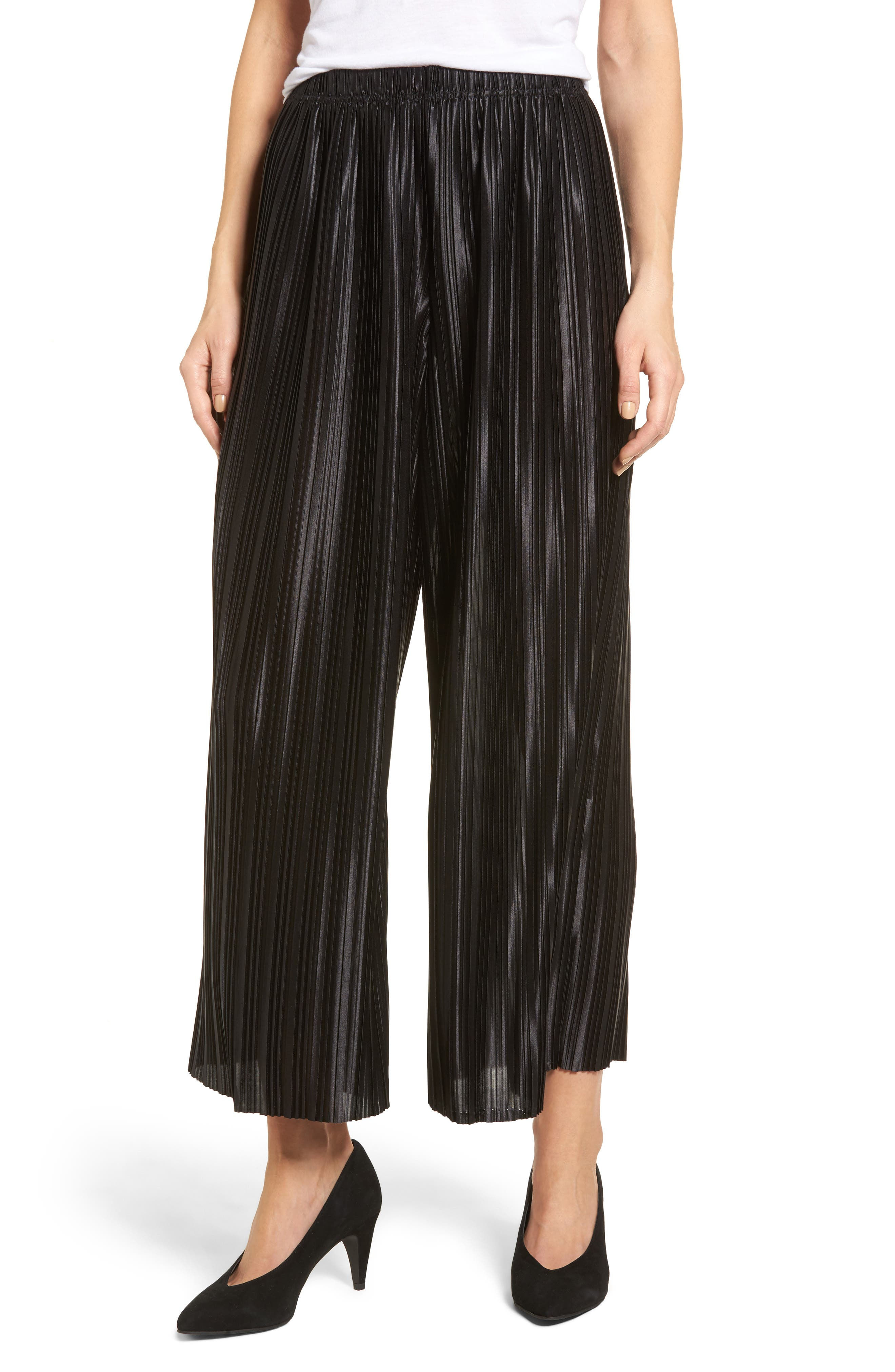 Just Pleat It Culottes,                             Main thumbnail 1, color,                             001