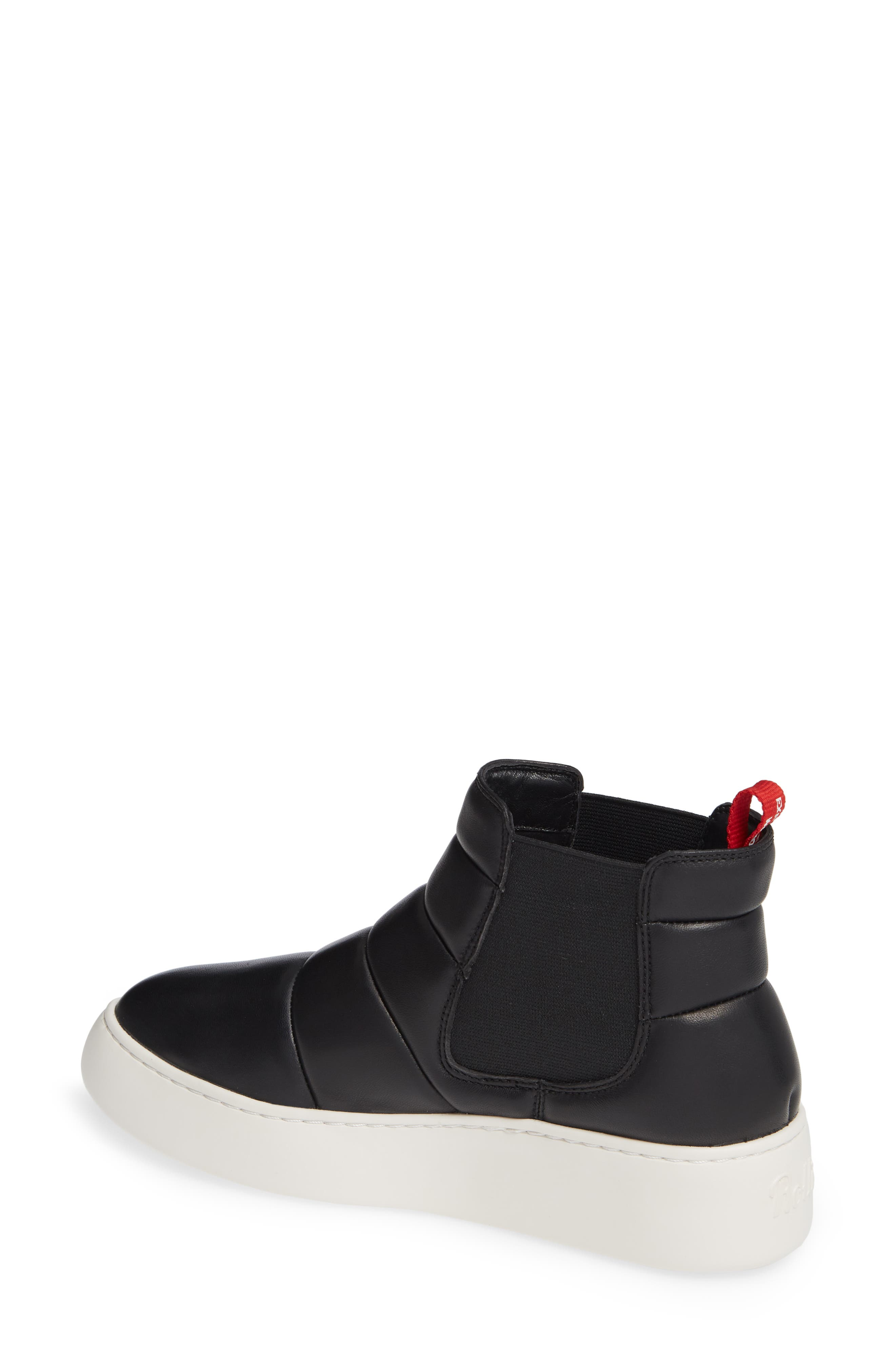 Snow City Quilted Chelsea Sneaker Boot,                             Alternate thumbnail 2, color,                             BLACK NAPPA
