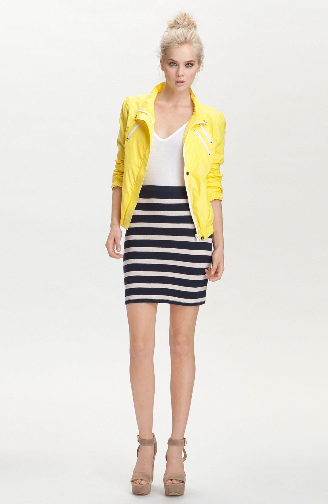'Skipper' Stripe Pencil Skirt,                             Alternate thumbnail 5, color,                             400