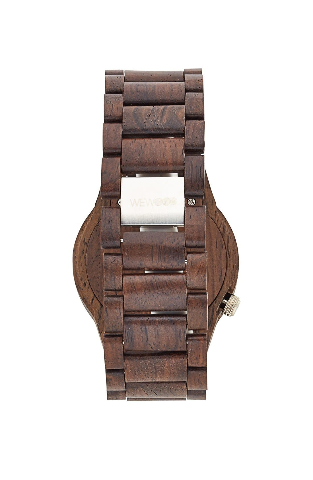 'Alpha' Wood Bracelet Watch, 46mm,                             Alternate thumbnail 4, color,                             200